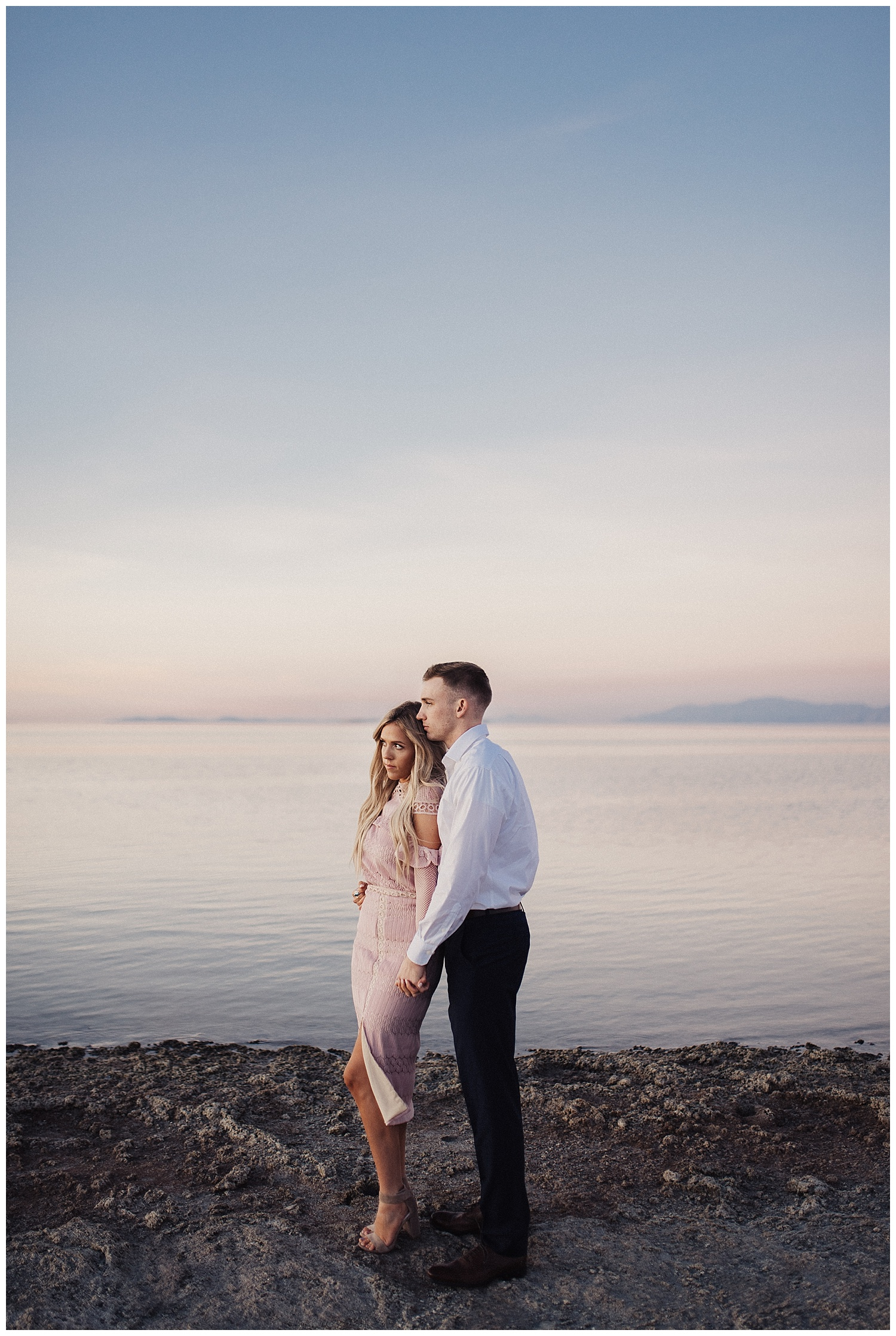 Sunset engagements session at the beach