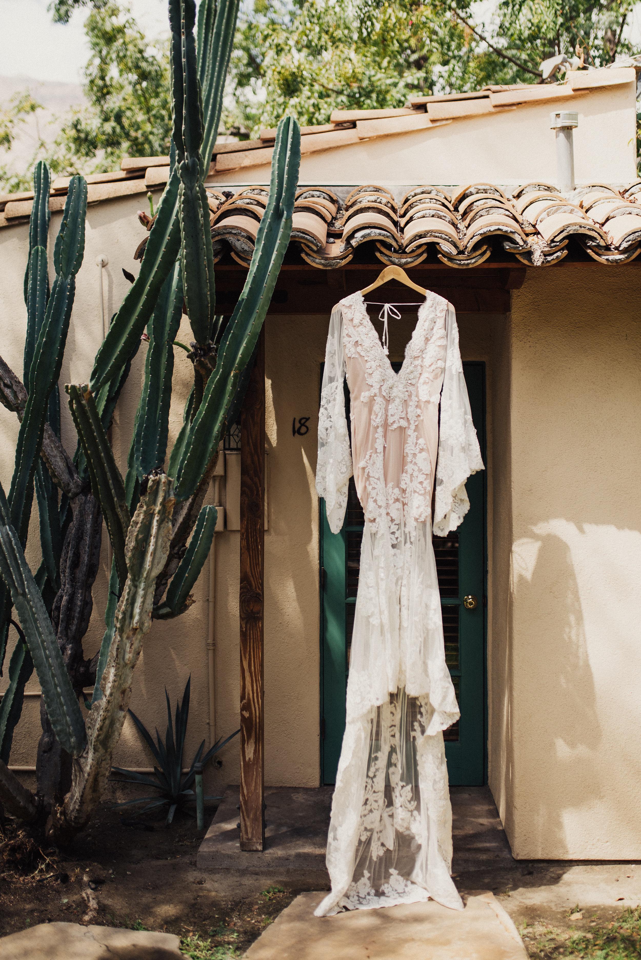 Bell Sleeved Wedding Dress