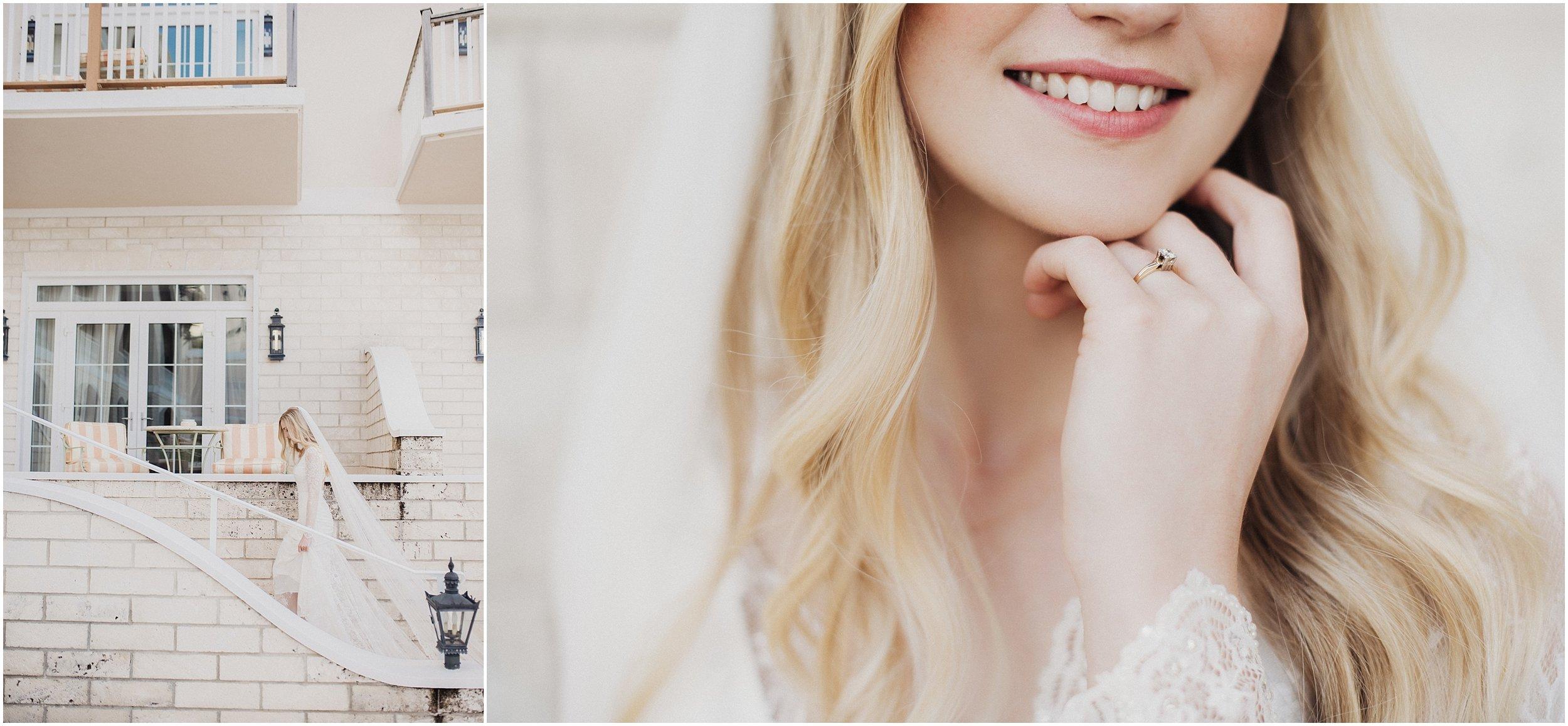 bridal photos at rosewood tucker's point