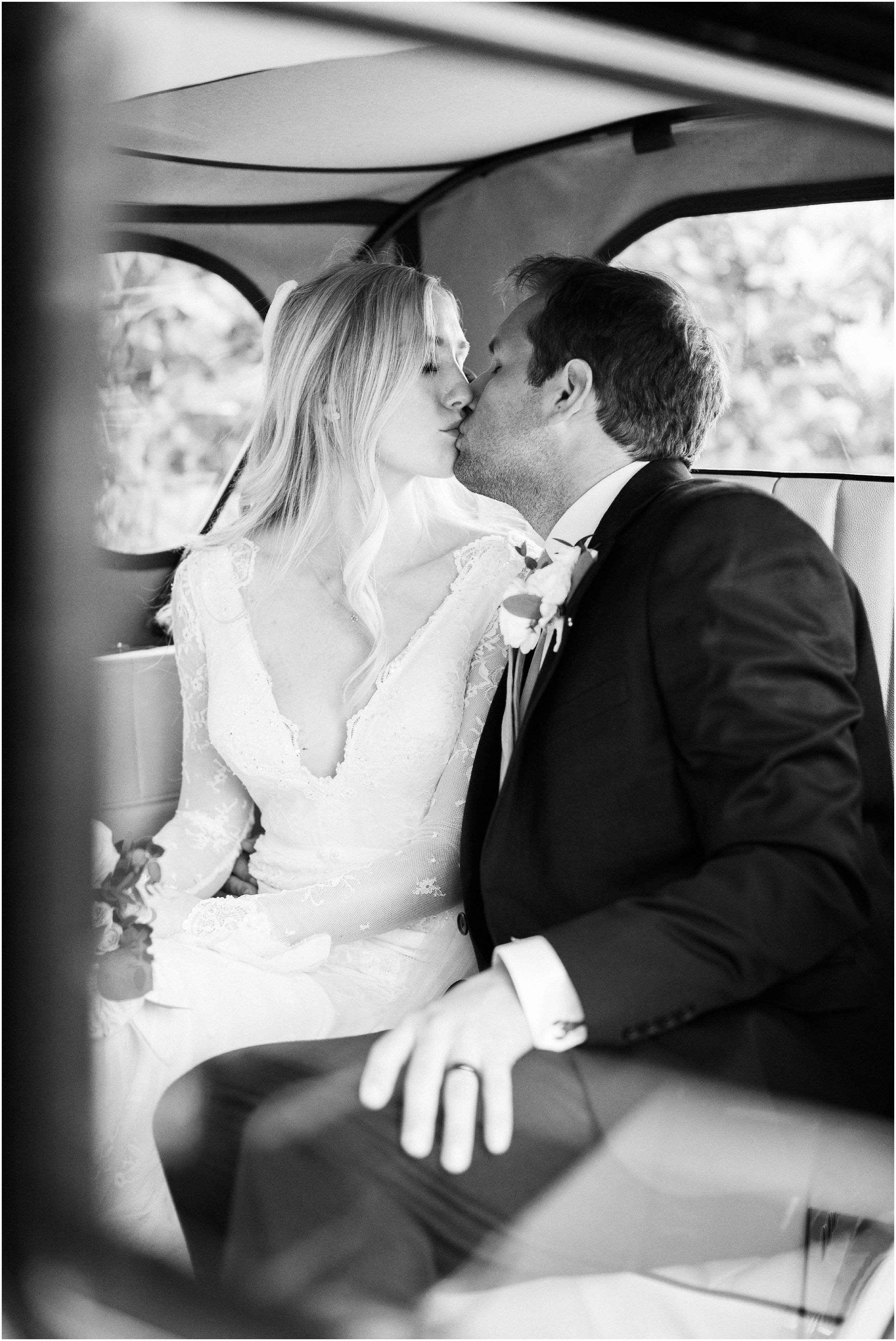 Wedding Photography in Getaway Car
