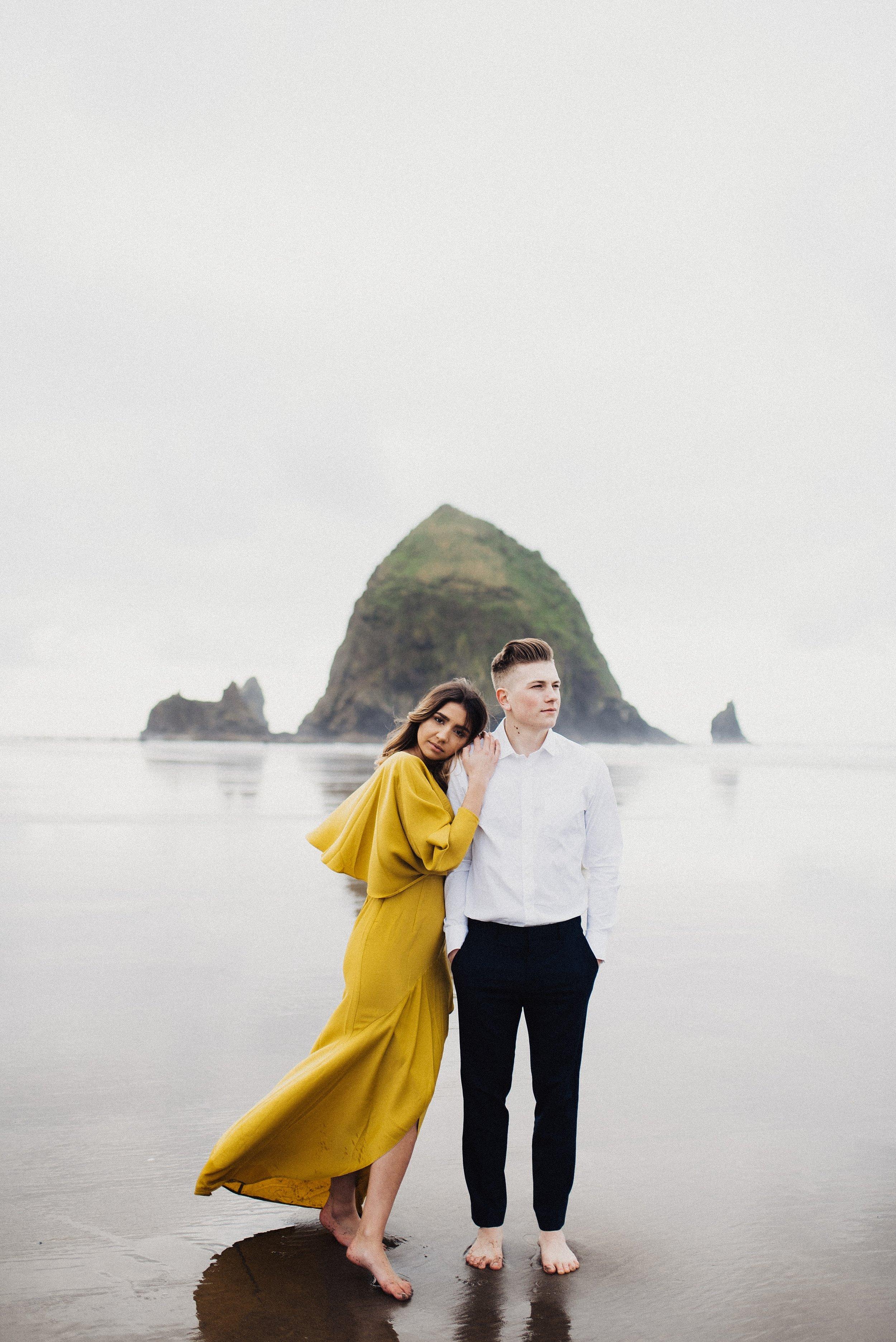 Oregon beach session at Cannon Beach