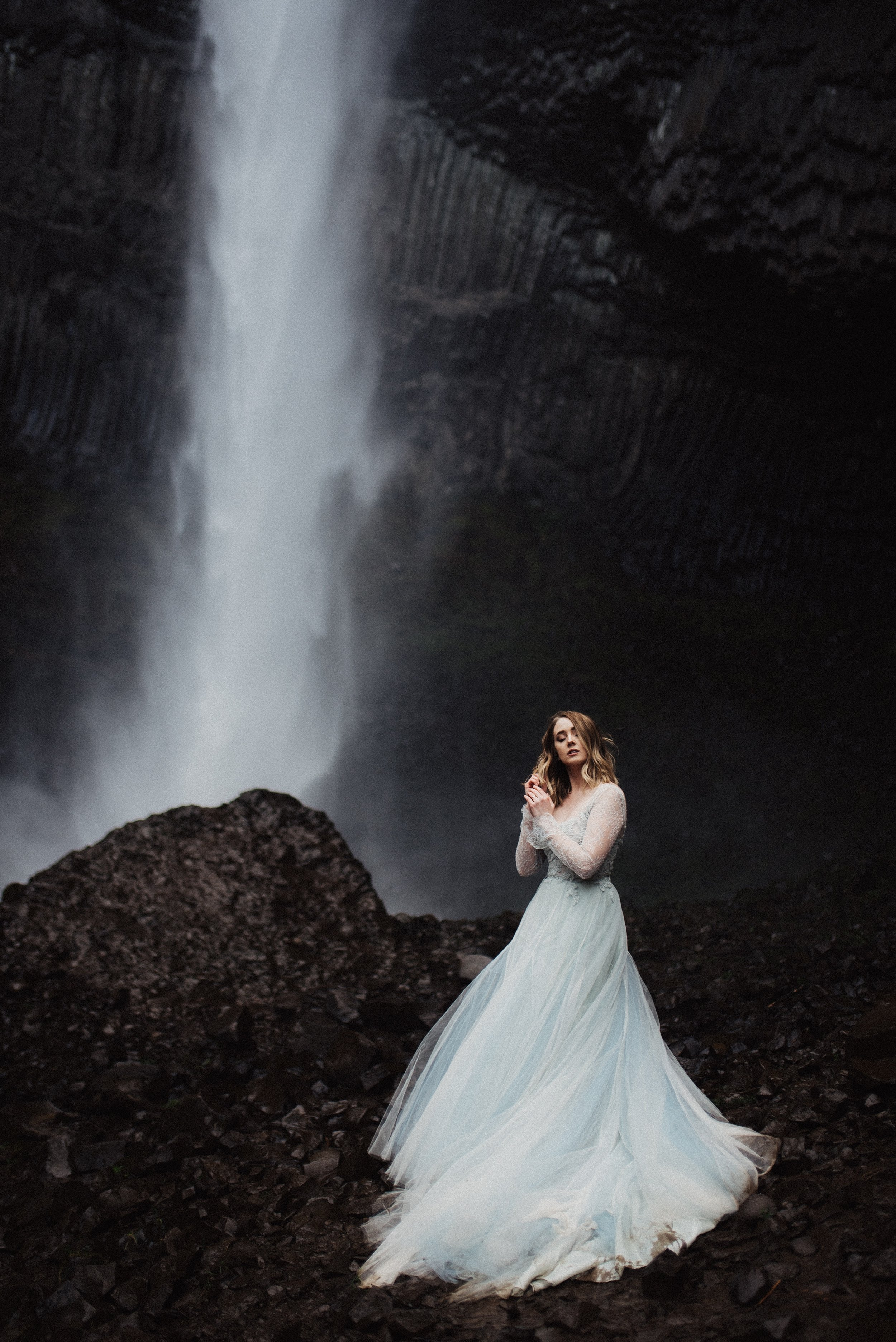 Latourell Oregon Bridal Session