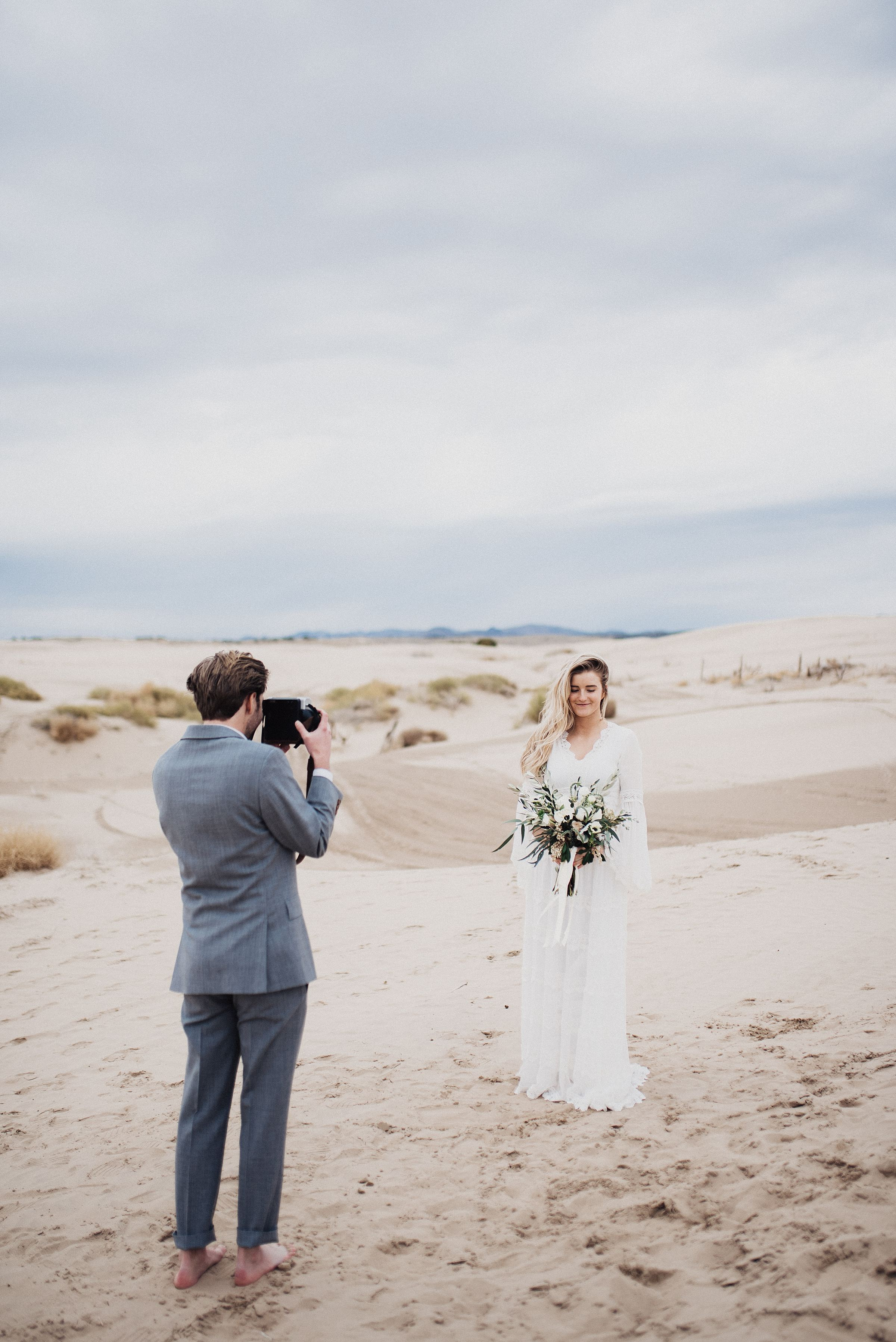 Boho Bell Sleeve Wedding Dress