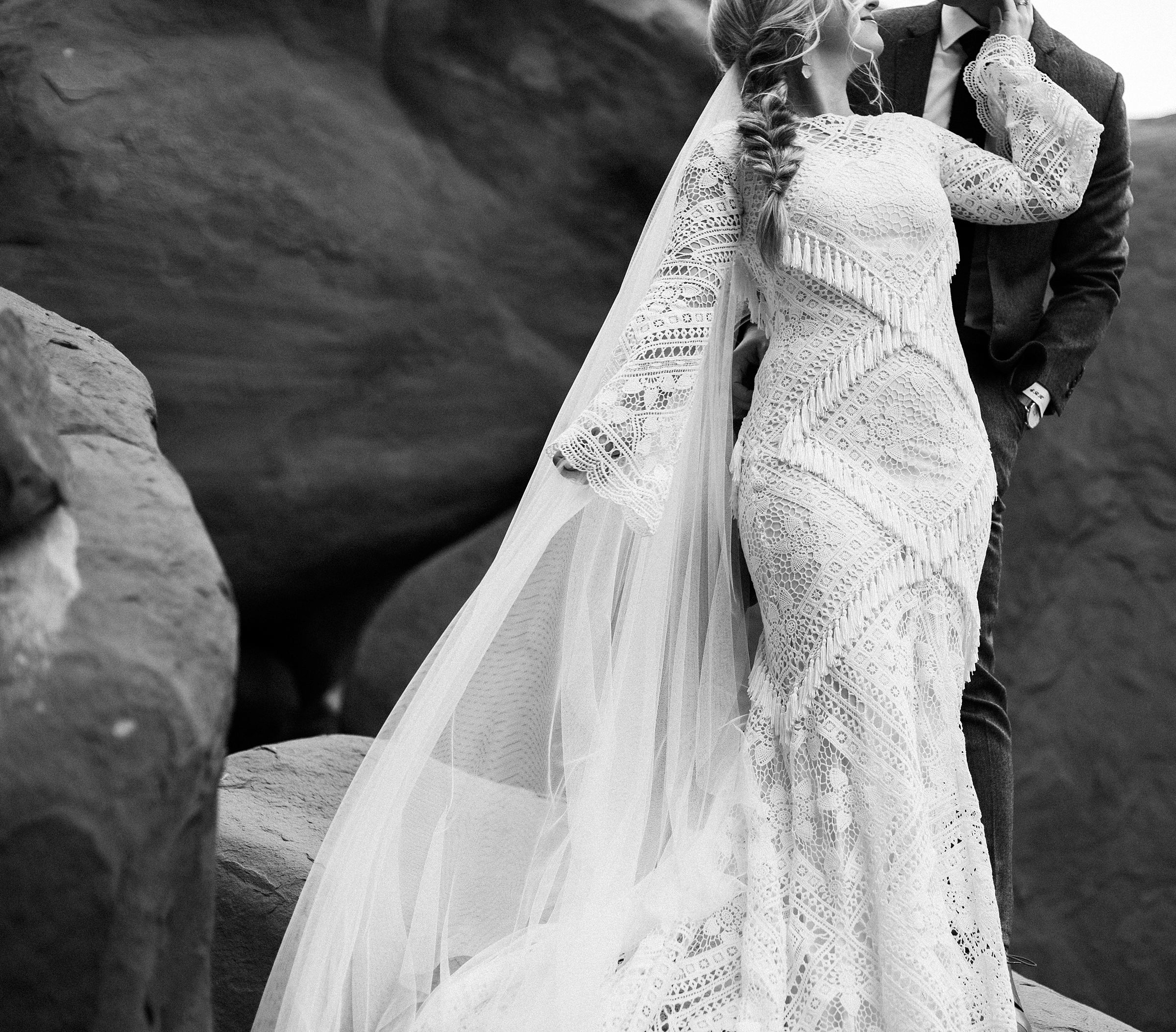 Boho Fringe Wedding Dress