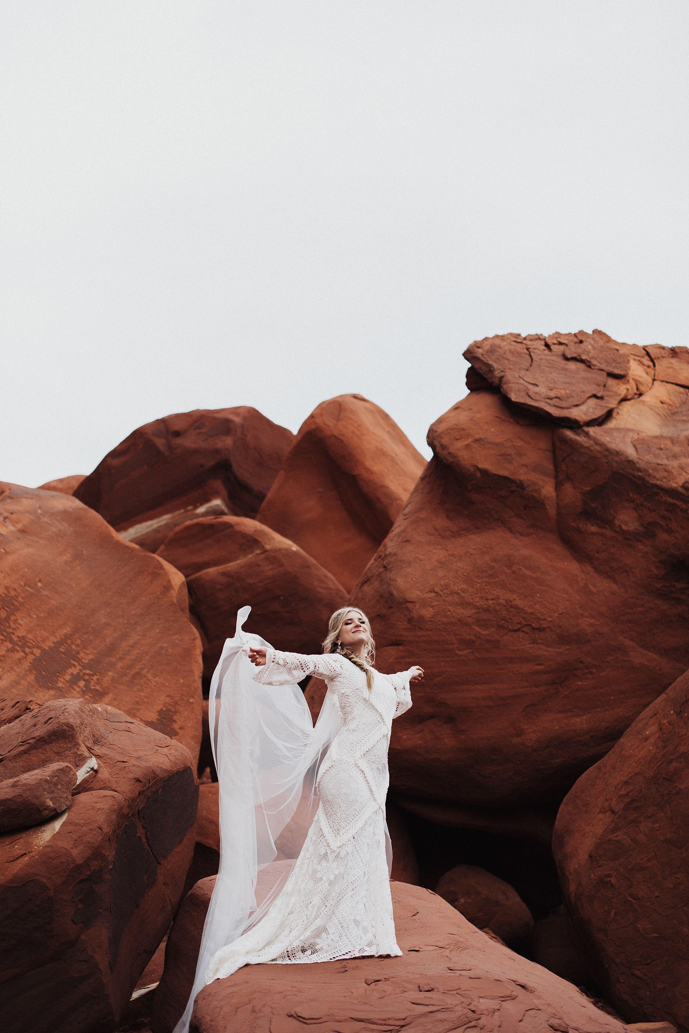 Boho Red Rock Bridals Eden Strader
