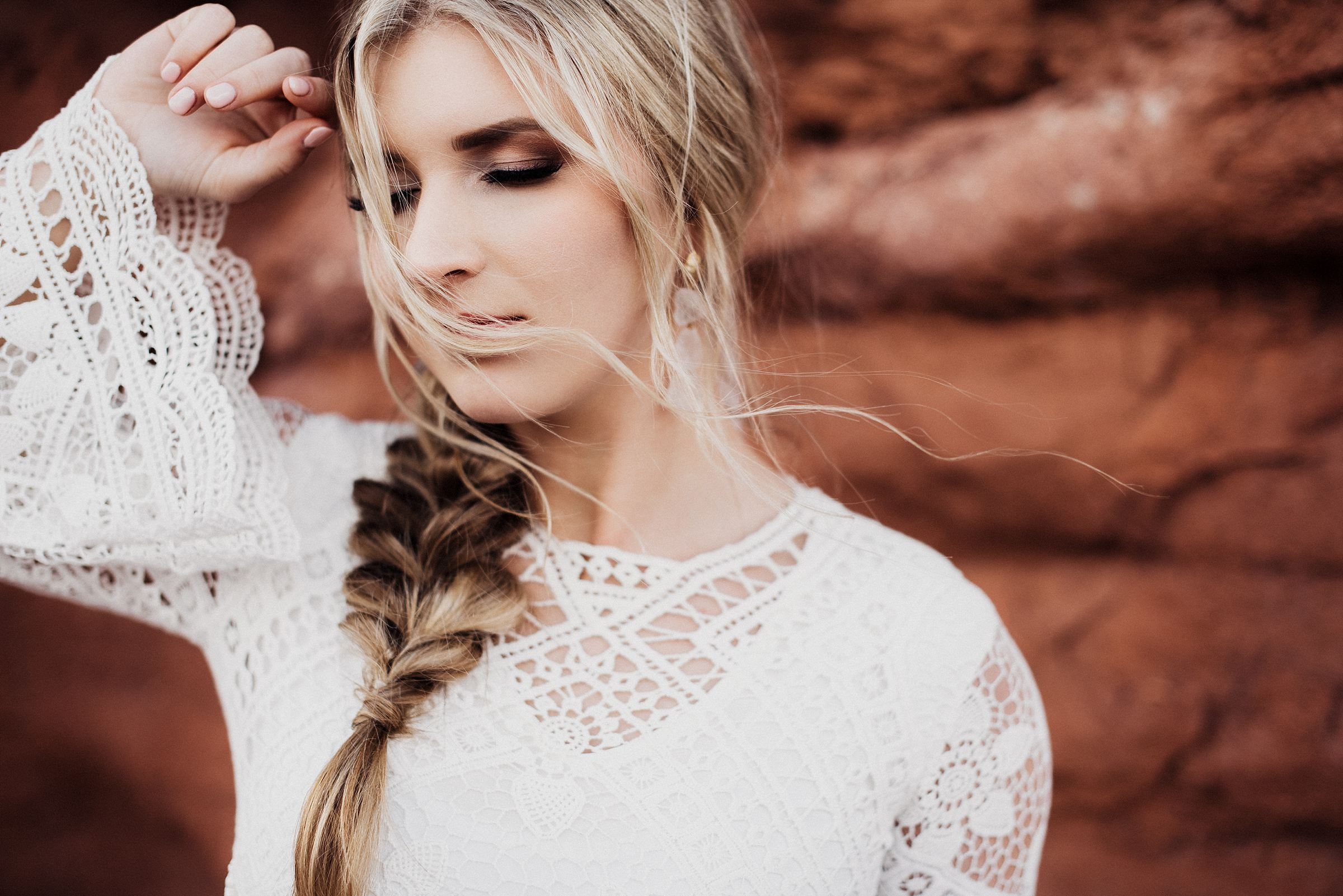 Dead horse point moab bridal session