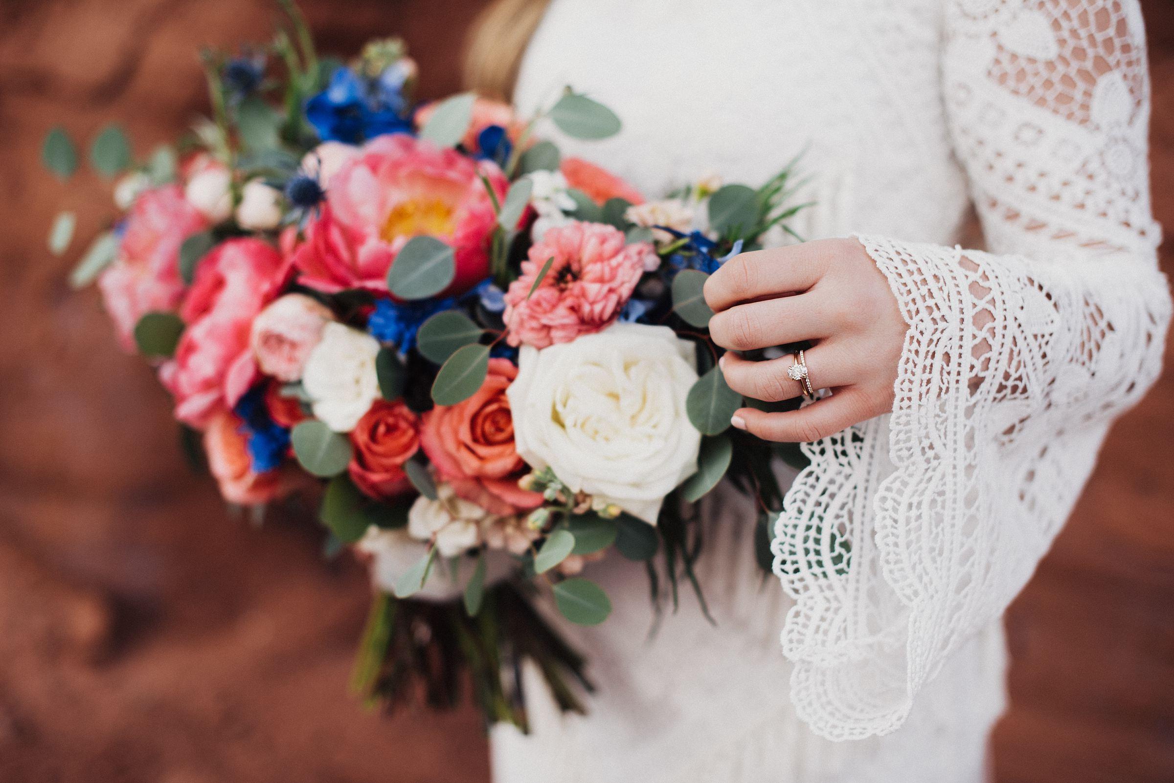 Boho Bell Sleeved Wedding Dress