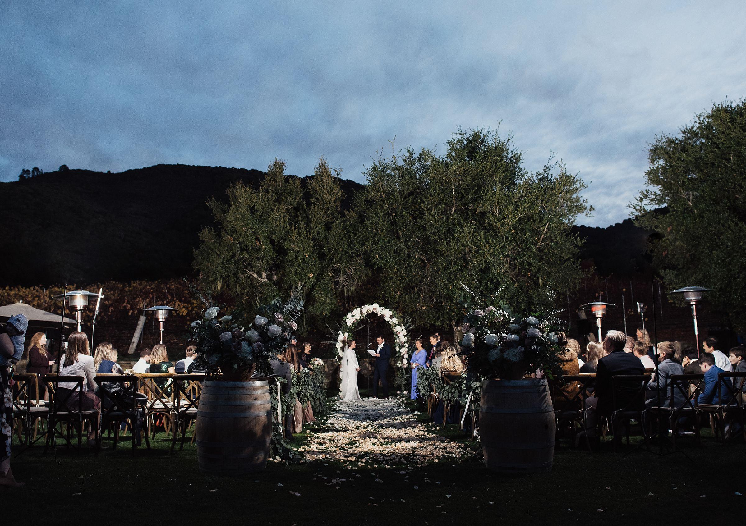 wedding ceremony at carmel valley ranch
