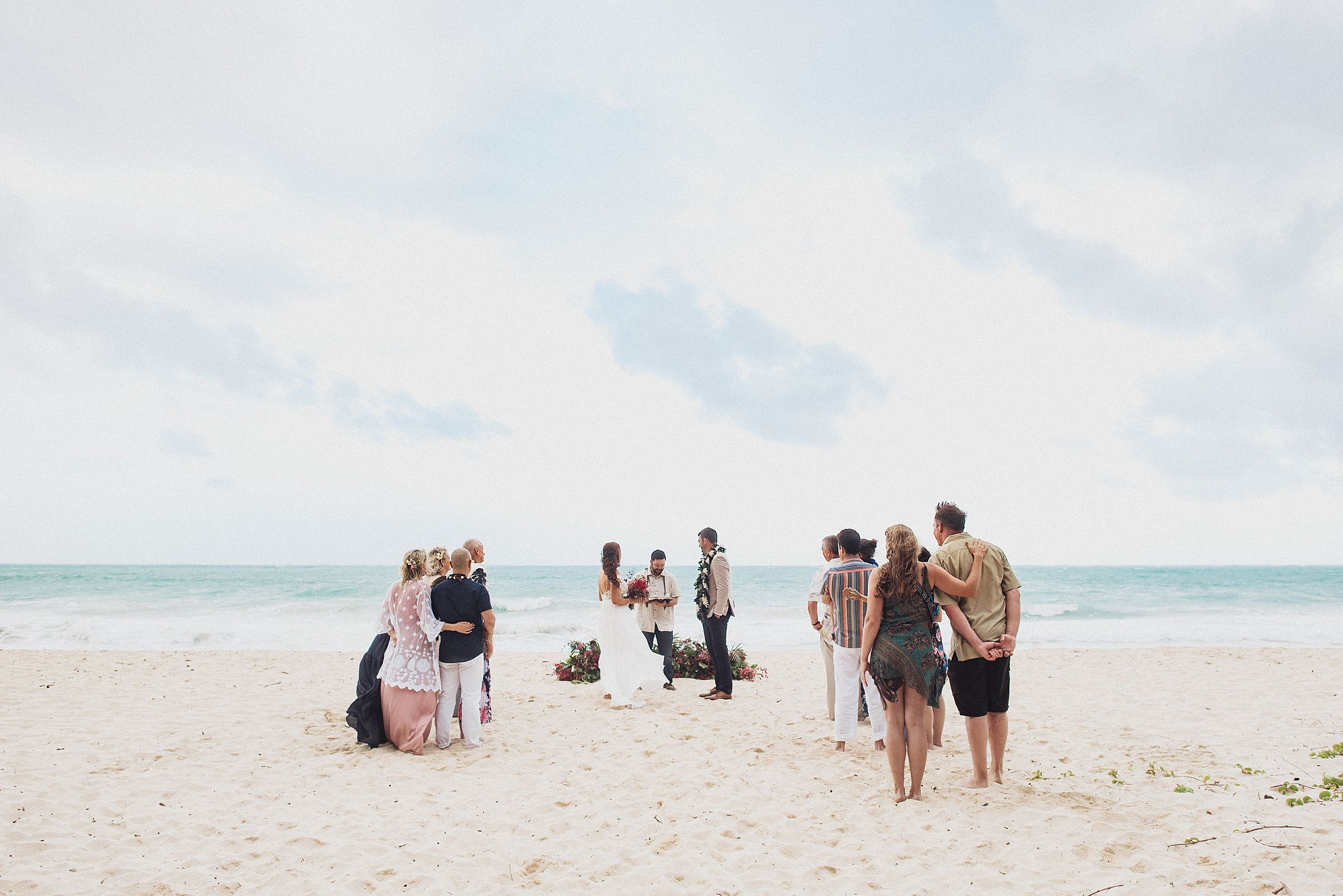 wedding at Waimanalo Bay