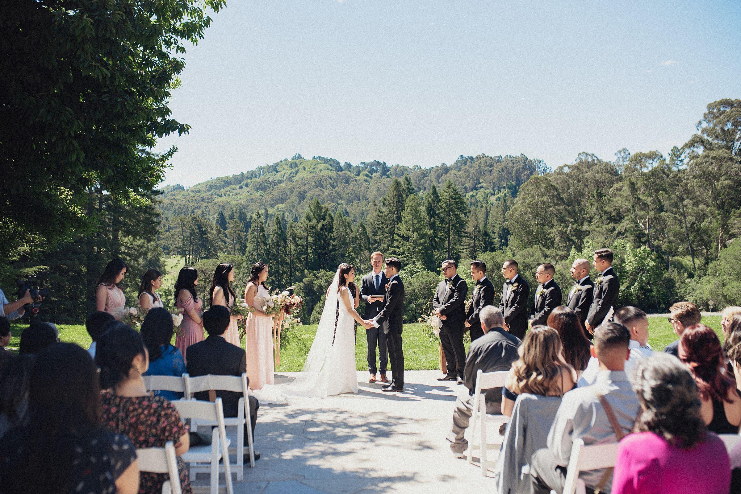 wedding ceremony at the brazilian room
