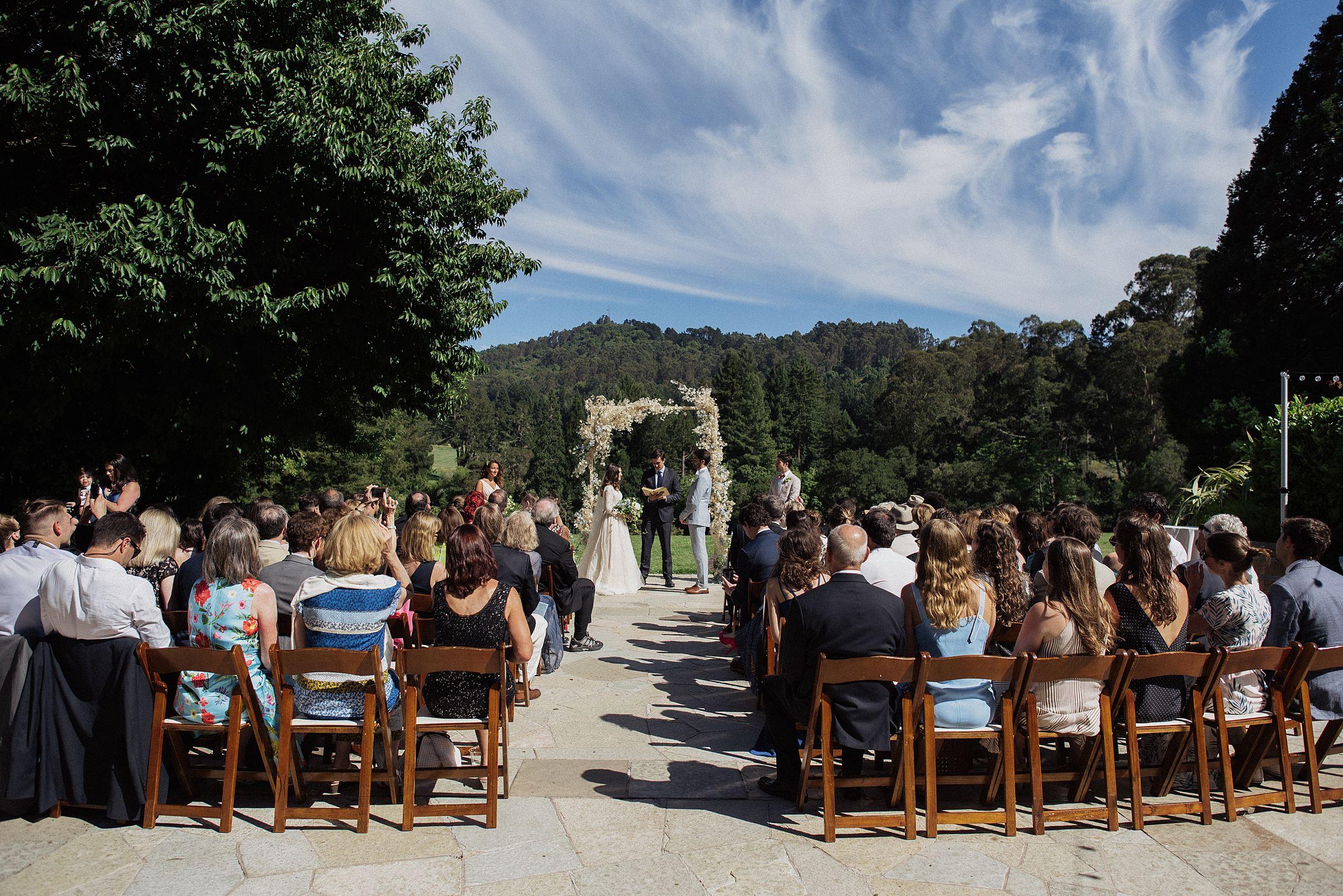 wedding ceremony at tilden park