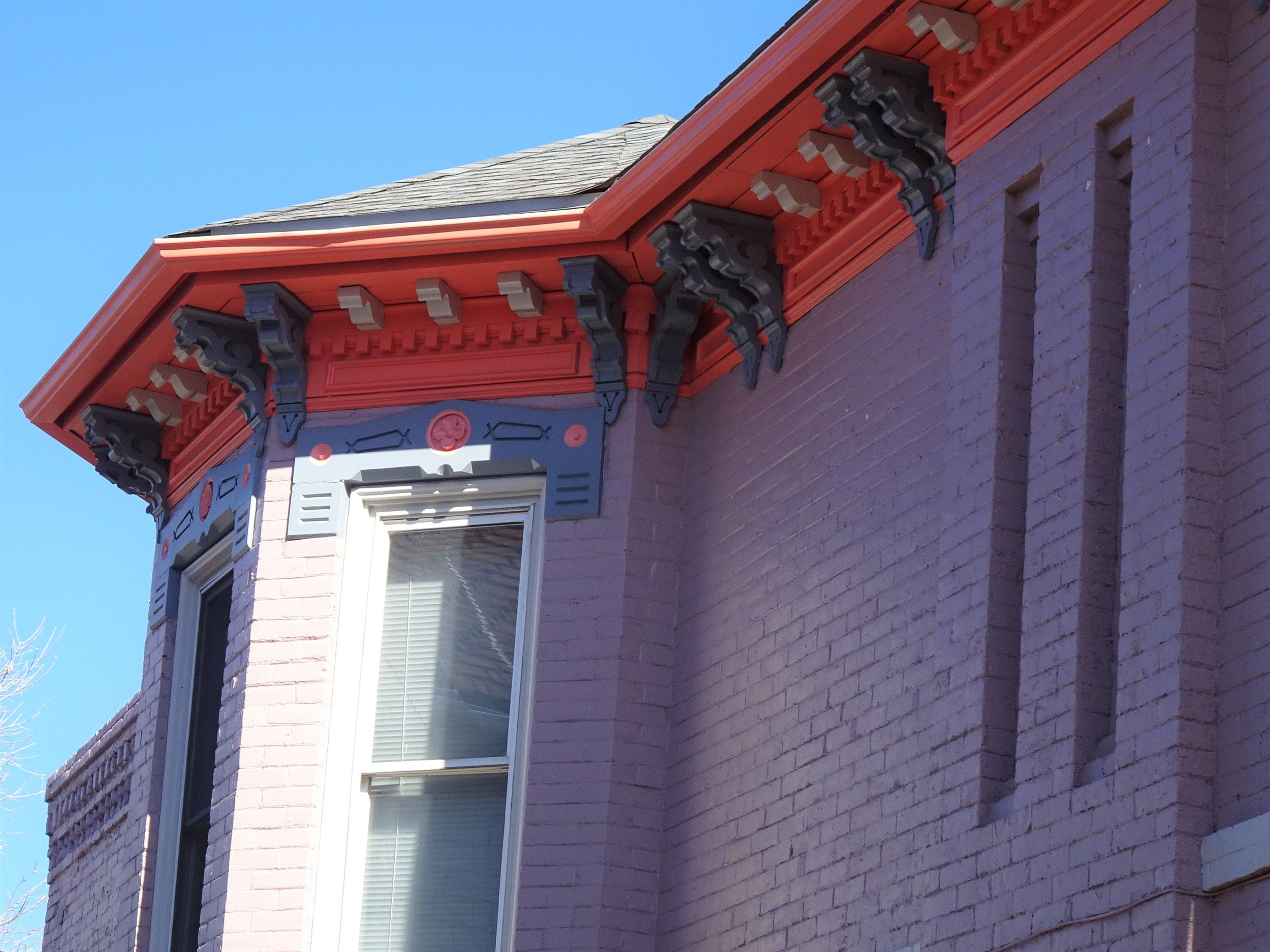 Wooden cornices are often the most ornate decoration found on an Italianate style home.