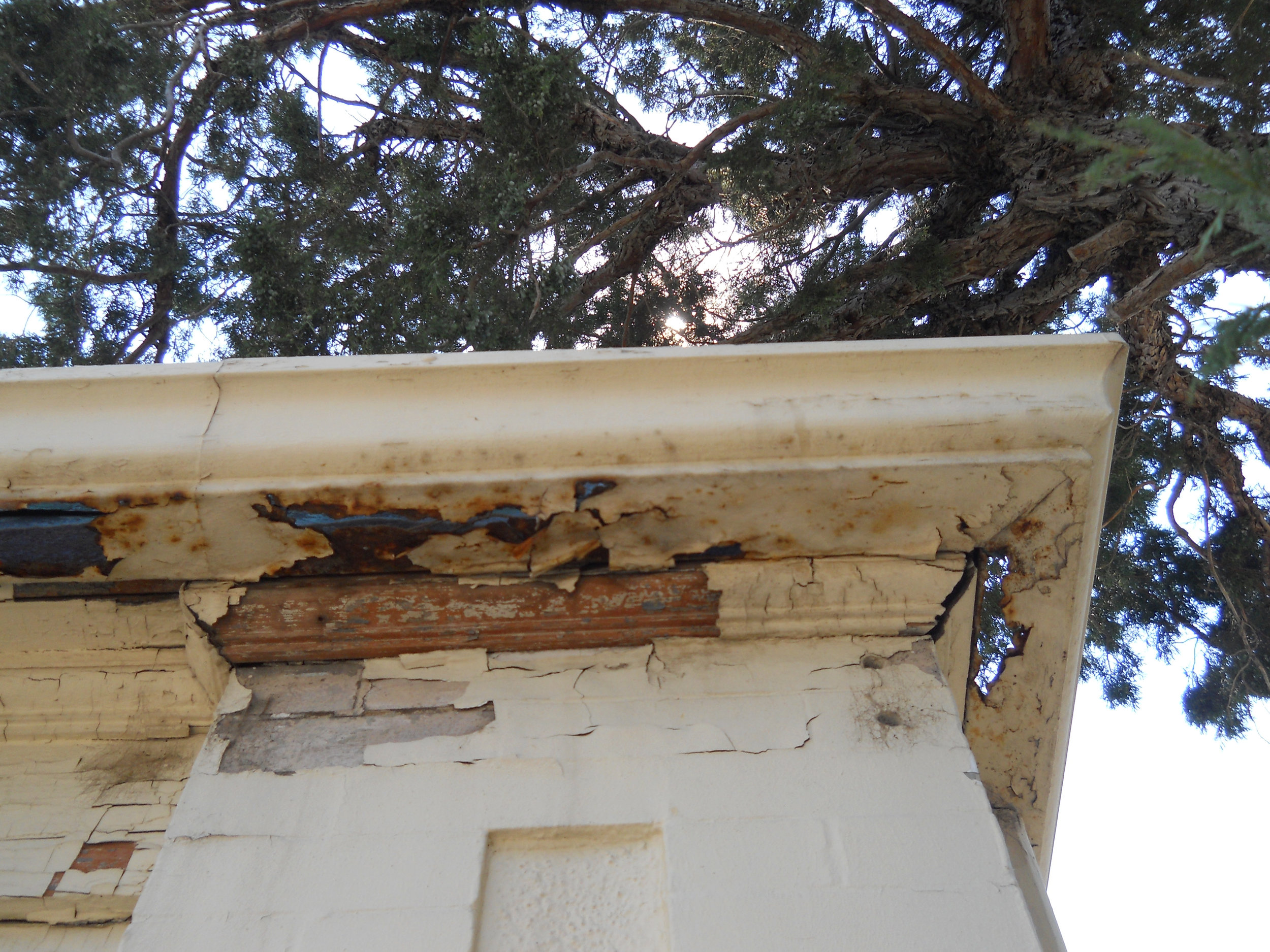 Keep roof systems, including gutters, in good repair to prevent water damage to your historic home.