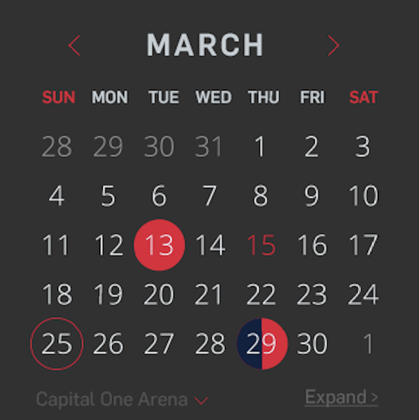 At-A-Glance Calendar that allows you to see events across all venues as well as your own personal calendar.
