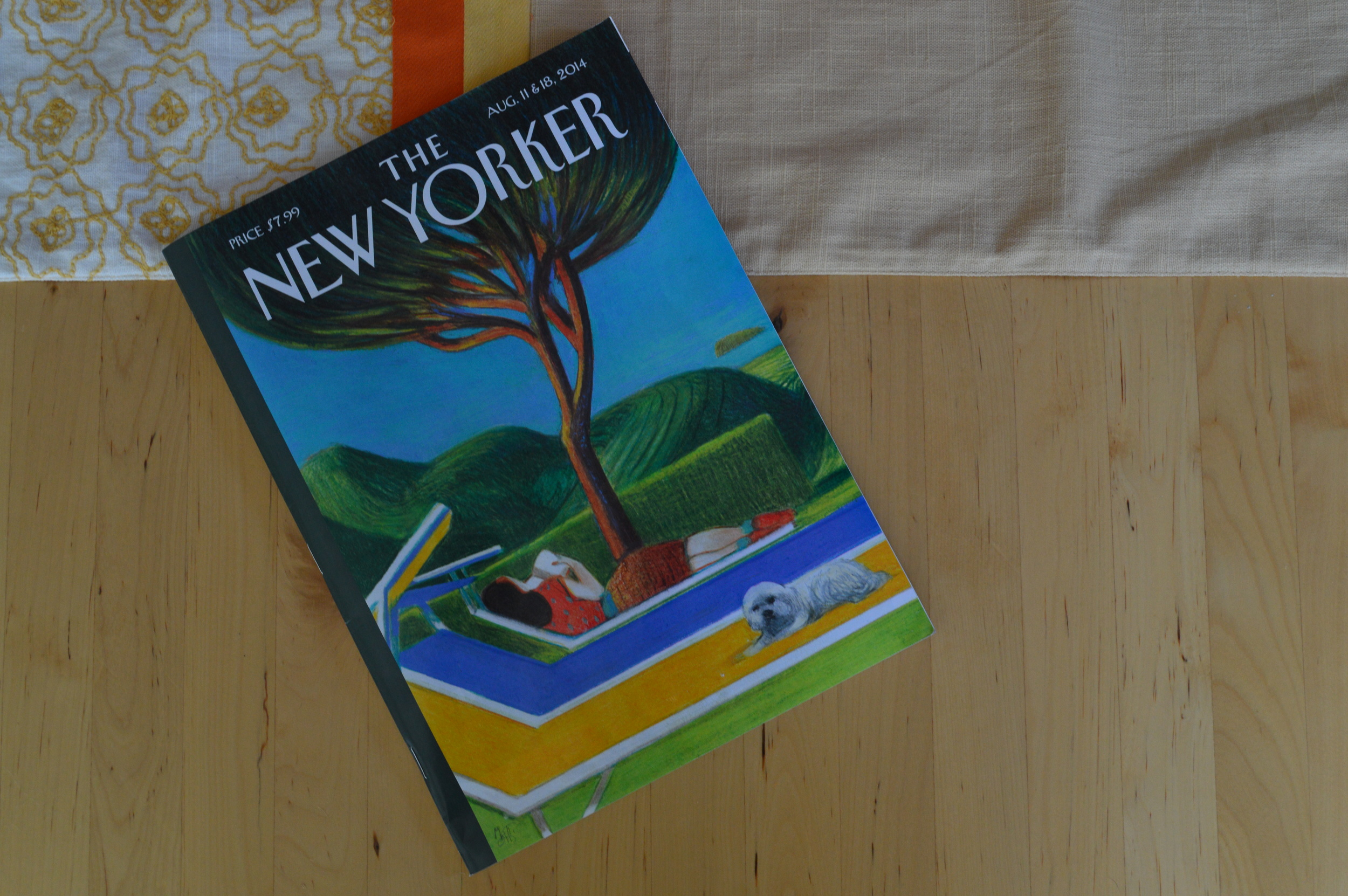 "The New Yorker, August 11 & 18, 2014.  Cover art, ""Siesta"" by Lorenzo Mattotti."