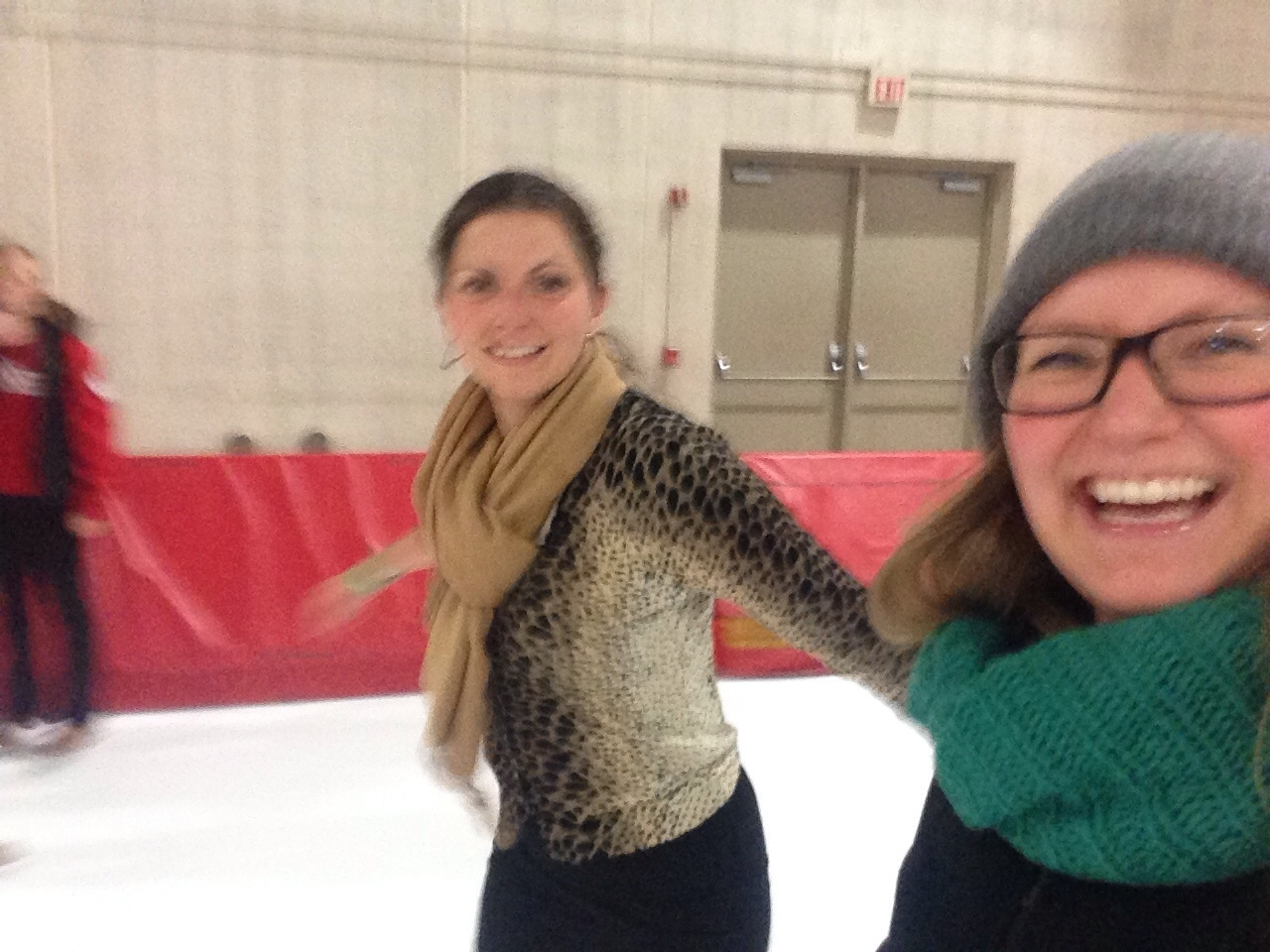 It's impossible to take a decent photo while sliding over solid ice on two narrow slices of metal.