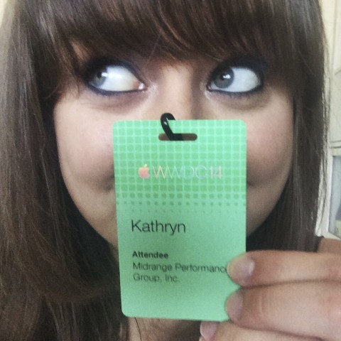 Showing off my badge :)