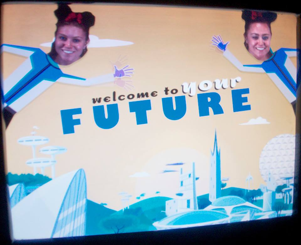 I was trying to figure out what sort of picture could signify my goals. I didn't want to steal a picture from a Google Image search, so I scrolled through all my pictures on Facebook and found this gem. I thought it was fitting because it is future oriented, but silly, and taken on Spaceship Earth in Epcot. Yeah, I'm a nerd :) My sister, Maddie, is on the left.