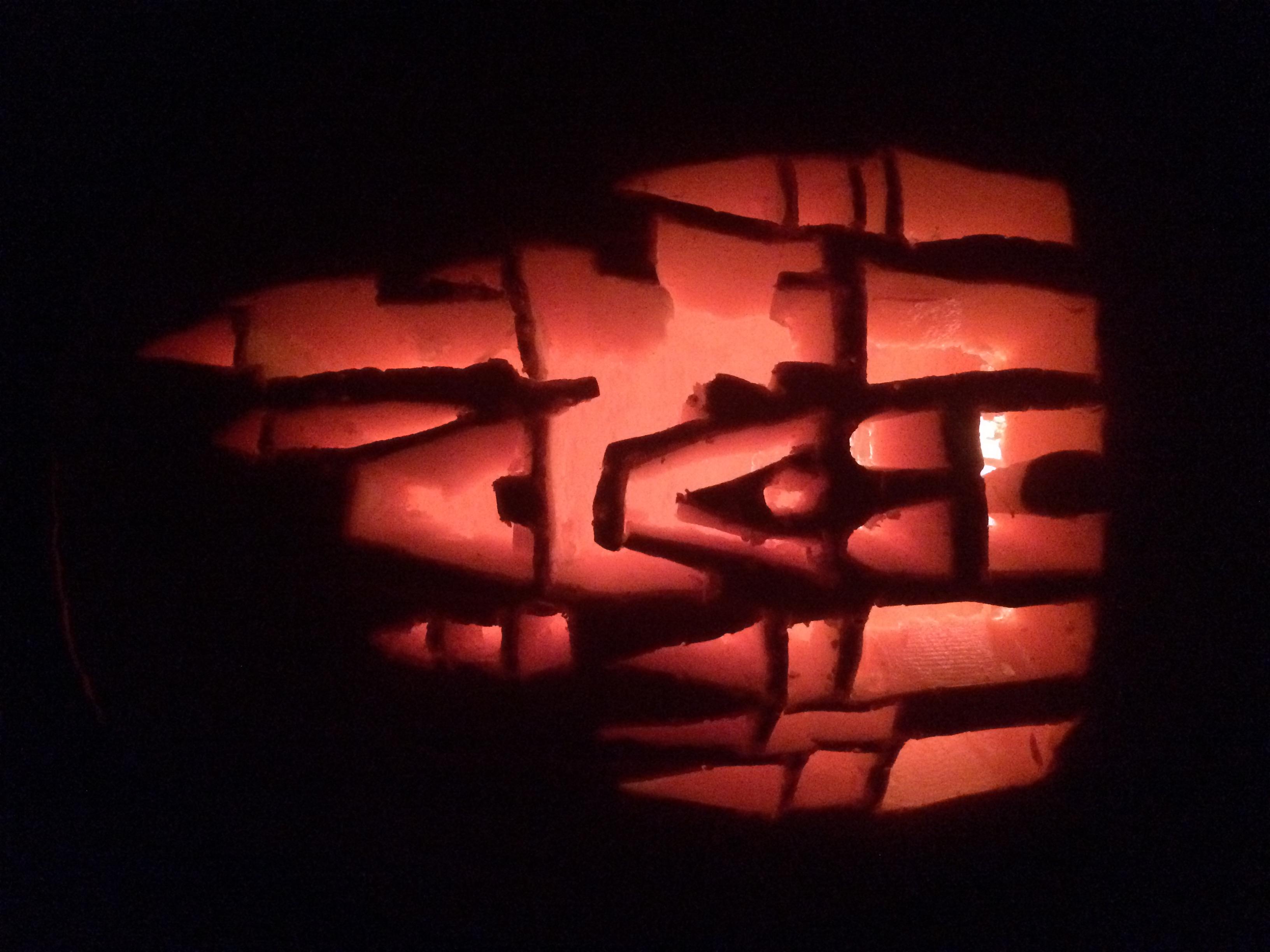 This year's pumpkin! Cinderella's Castle :)