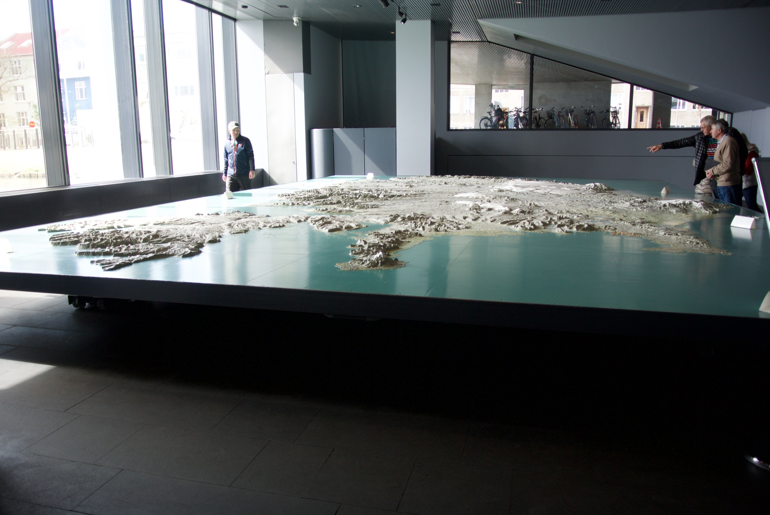 Topographical map at City Hall