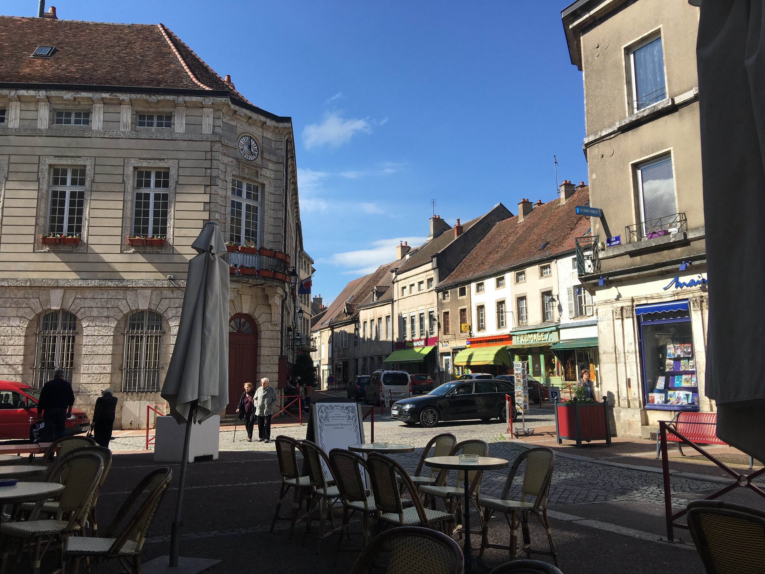 The view from the café in Saulieu
