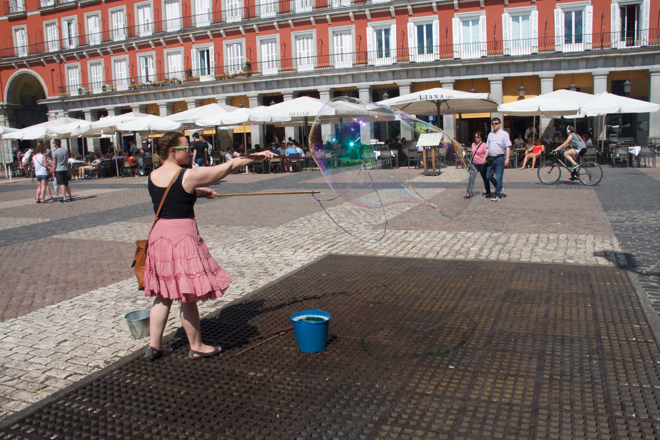 Celebrating my inner 5-year-old in Plaza Mayor