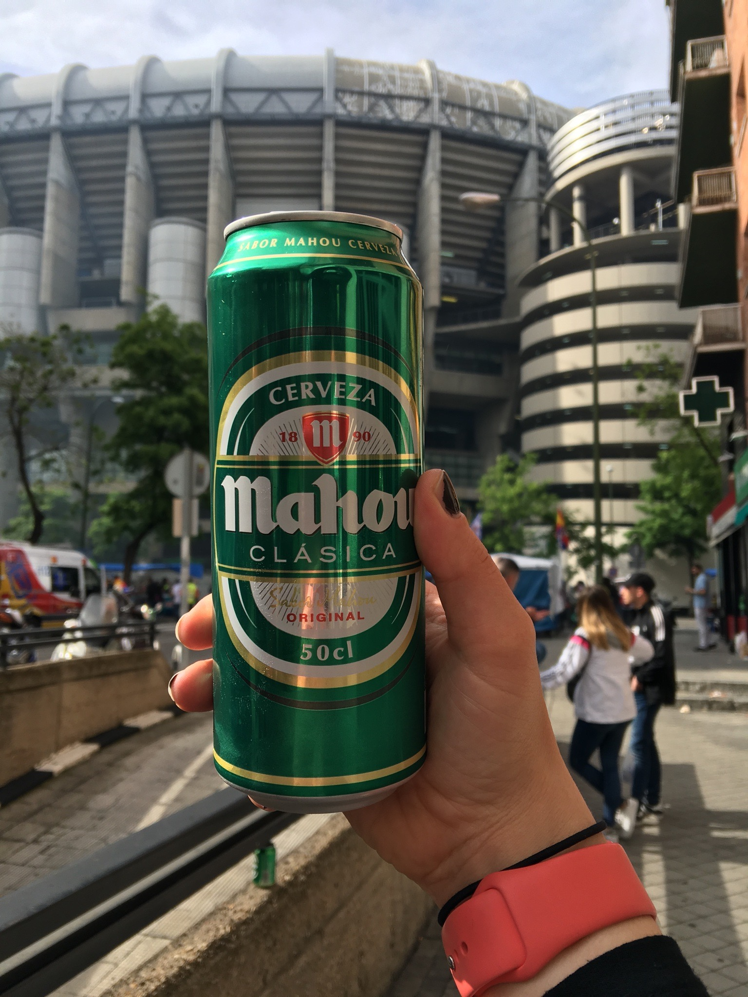 Mahou (cheap Spanish beer)