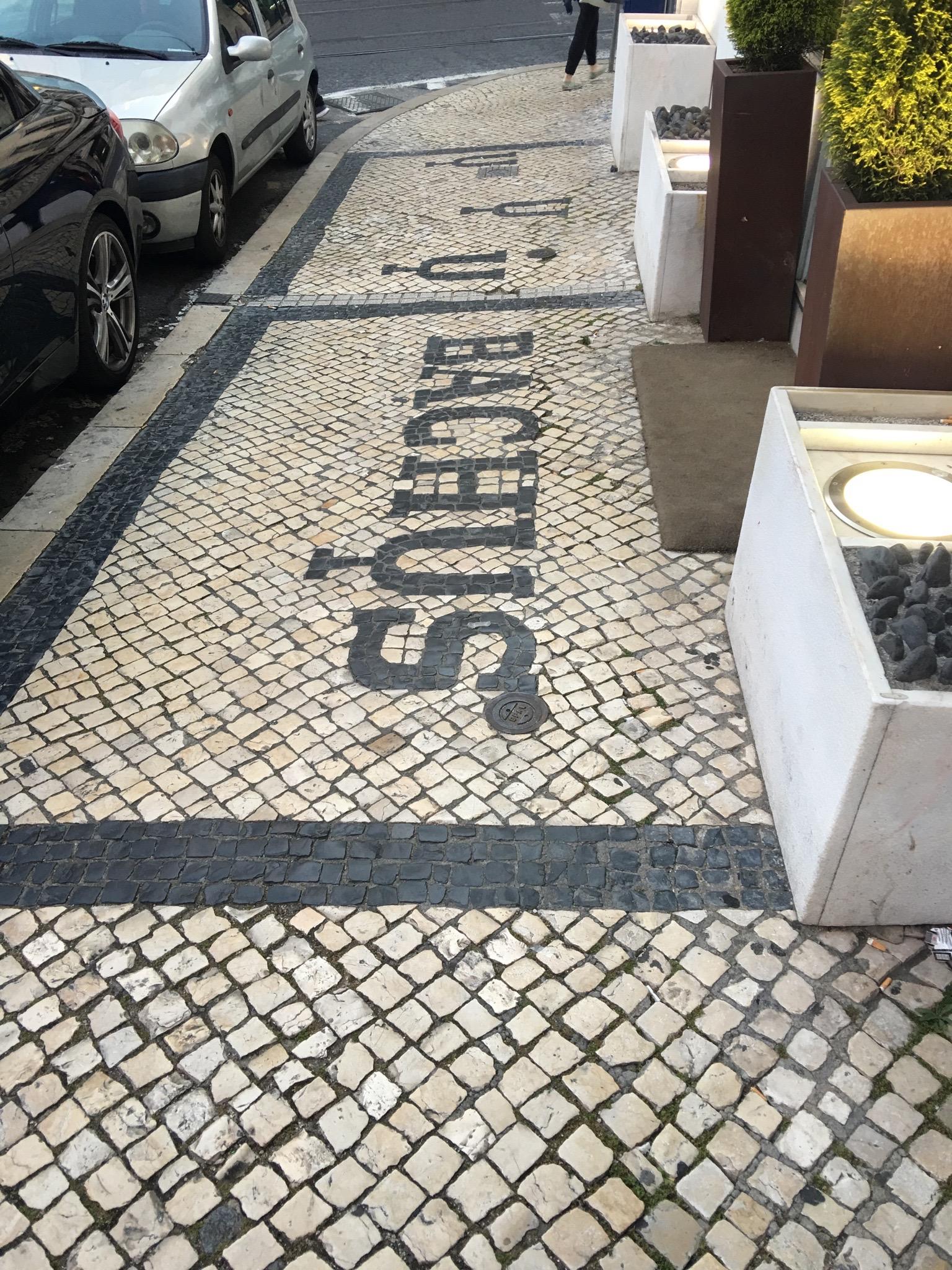 Tiles outside a shop