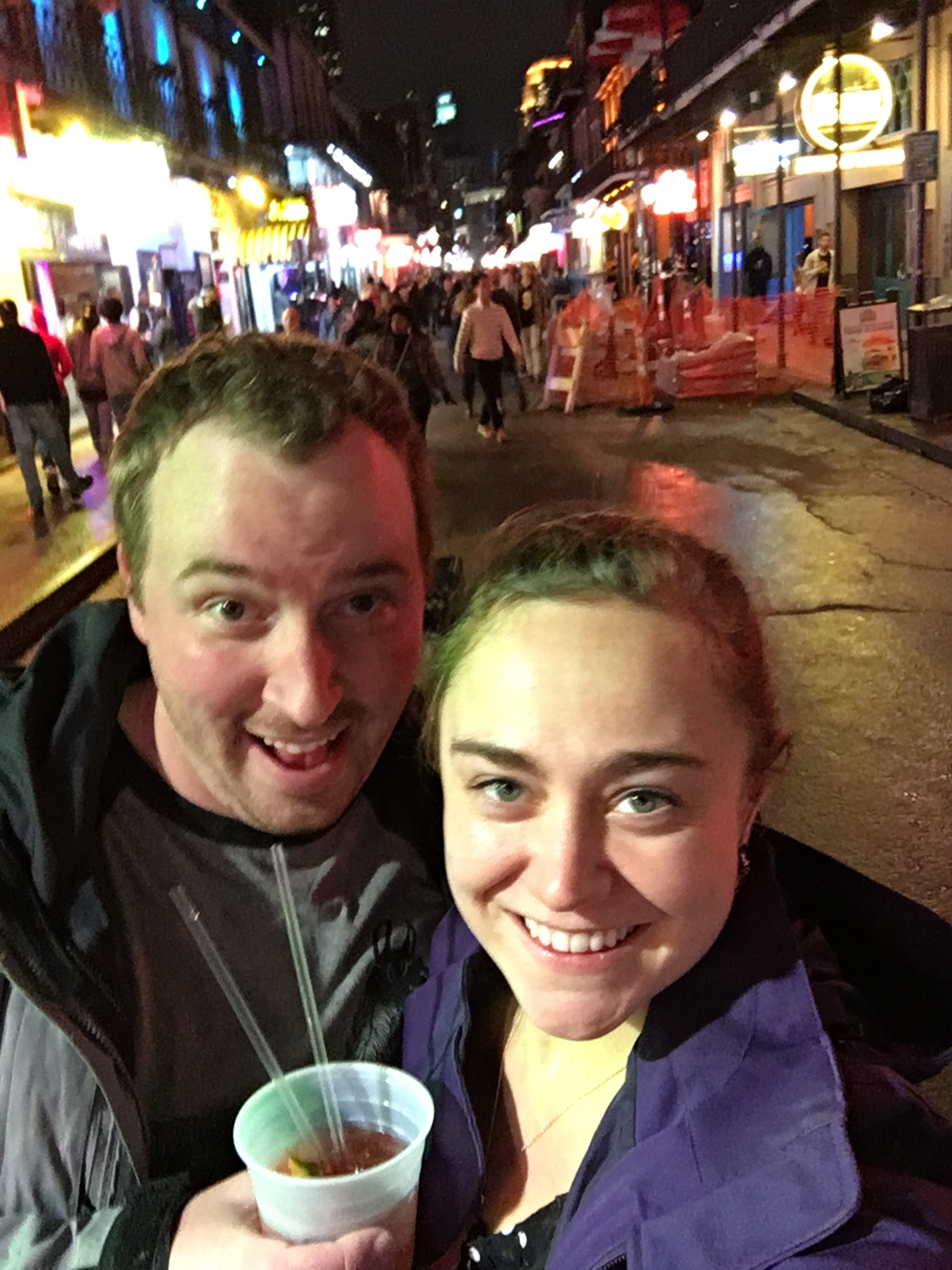 Bourbon Street in the rain on the way home
