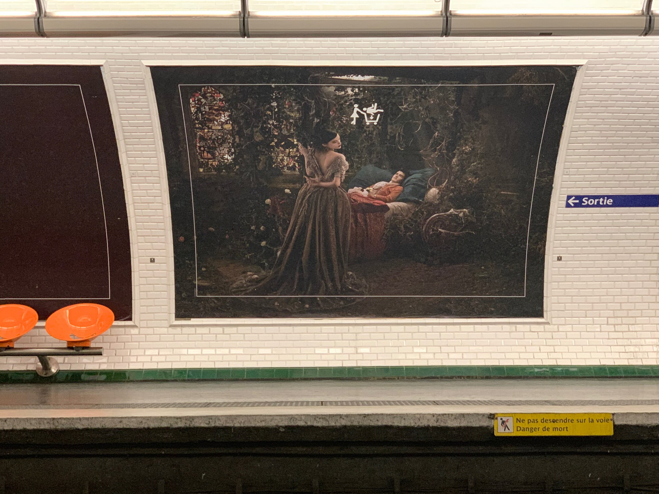An ad in the subway - gender-swapped Sleeping Beauty