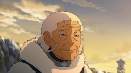 Katara at the age of 85.