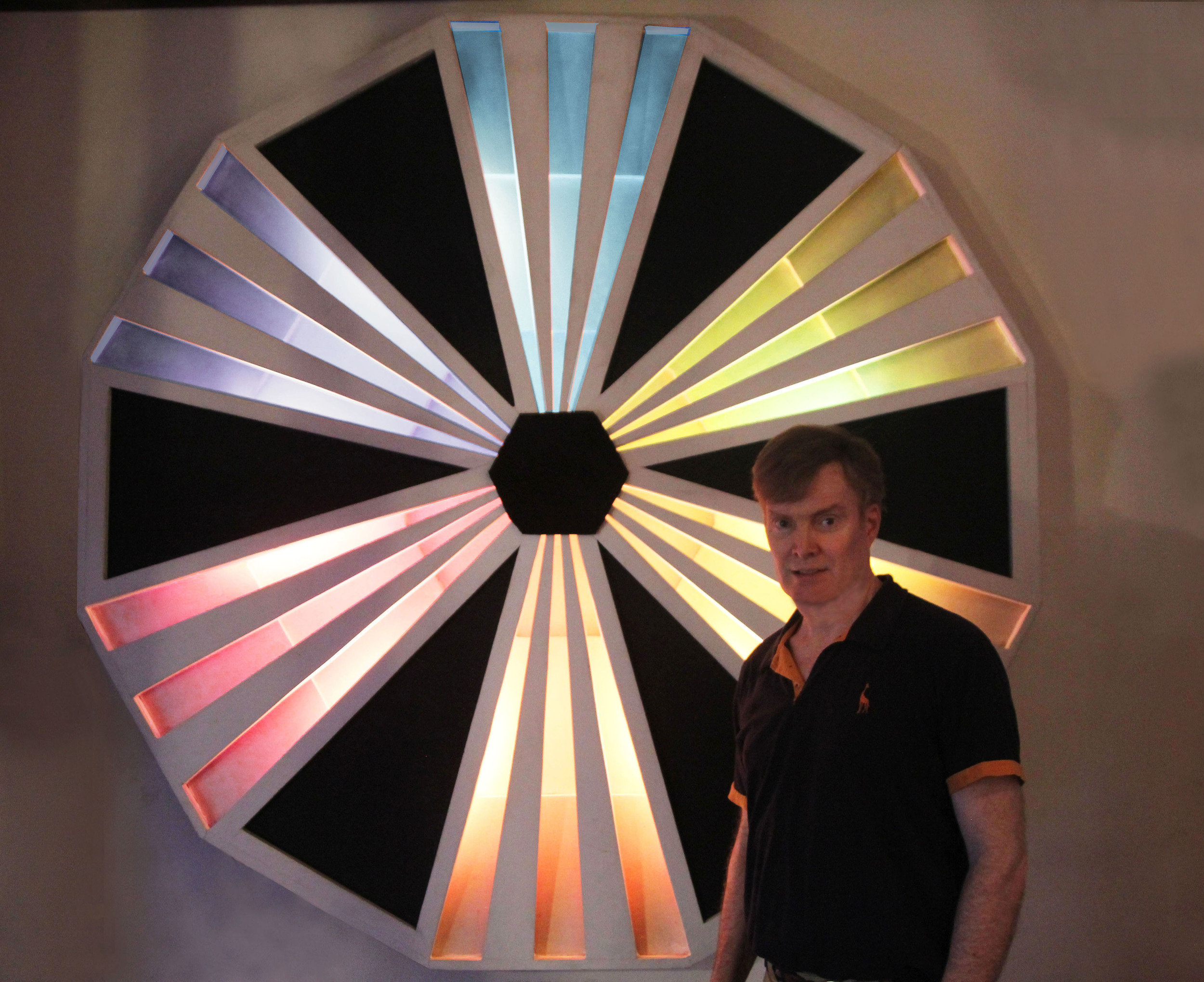 5 - Electrified sculpture with reflected colors made with wood.jpg