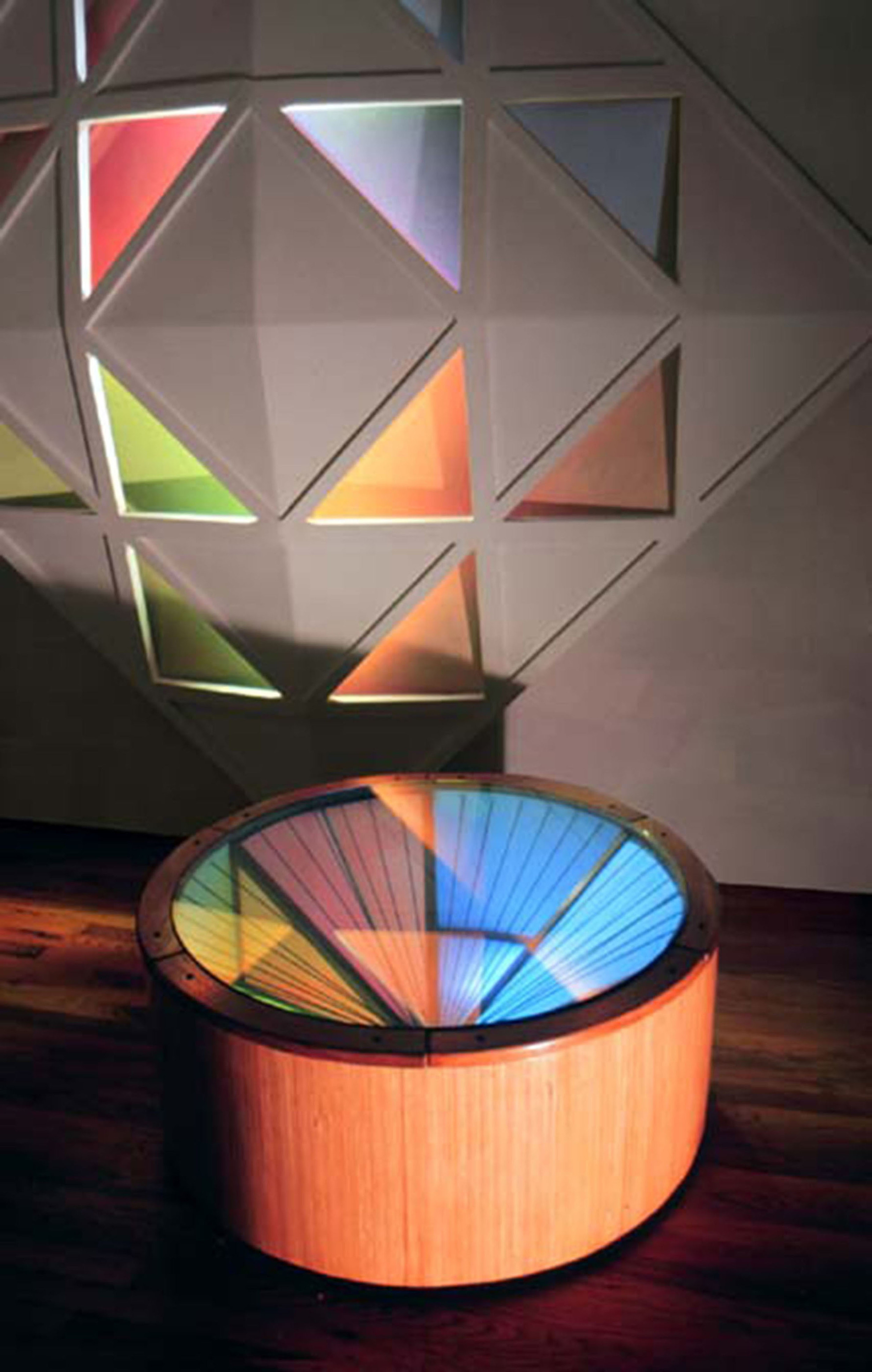 2 - Stained glass table with sculpture.jpg
