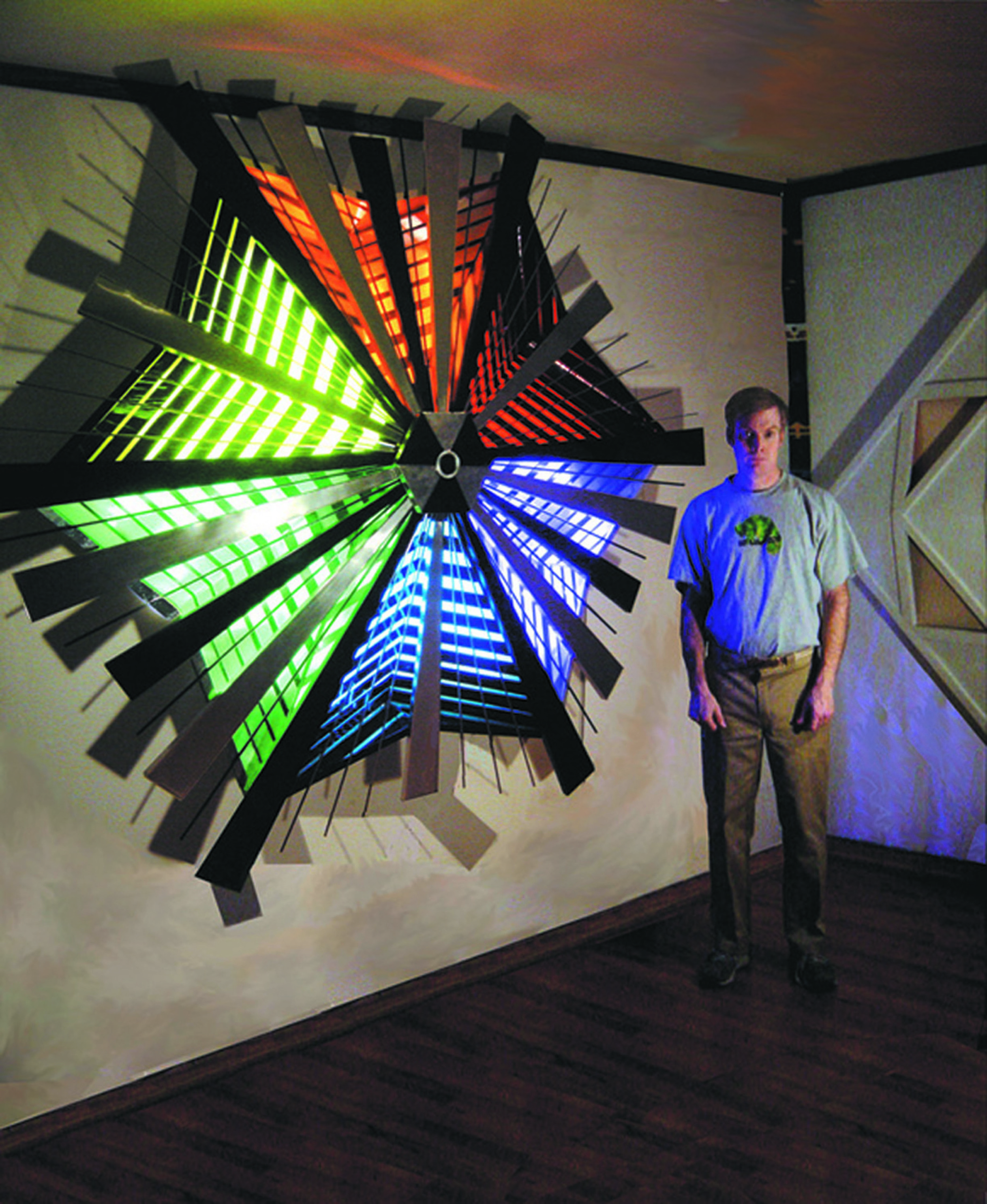 1 - Stainless steel, stained glass, plexiglass and neon sculpture.jpg
