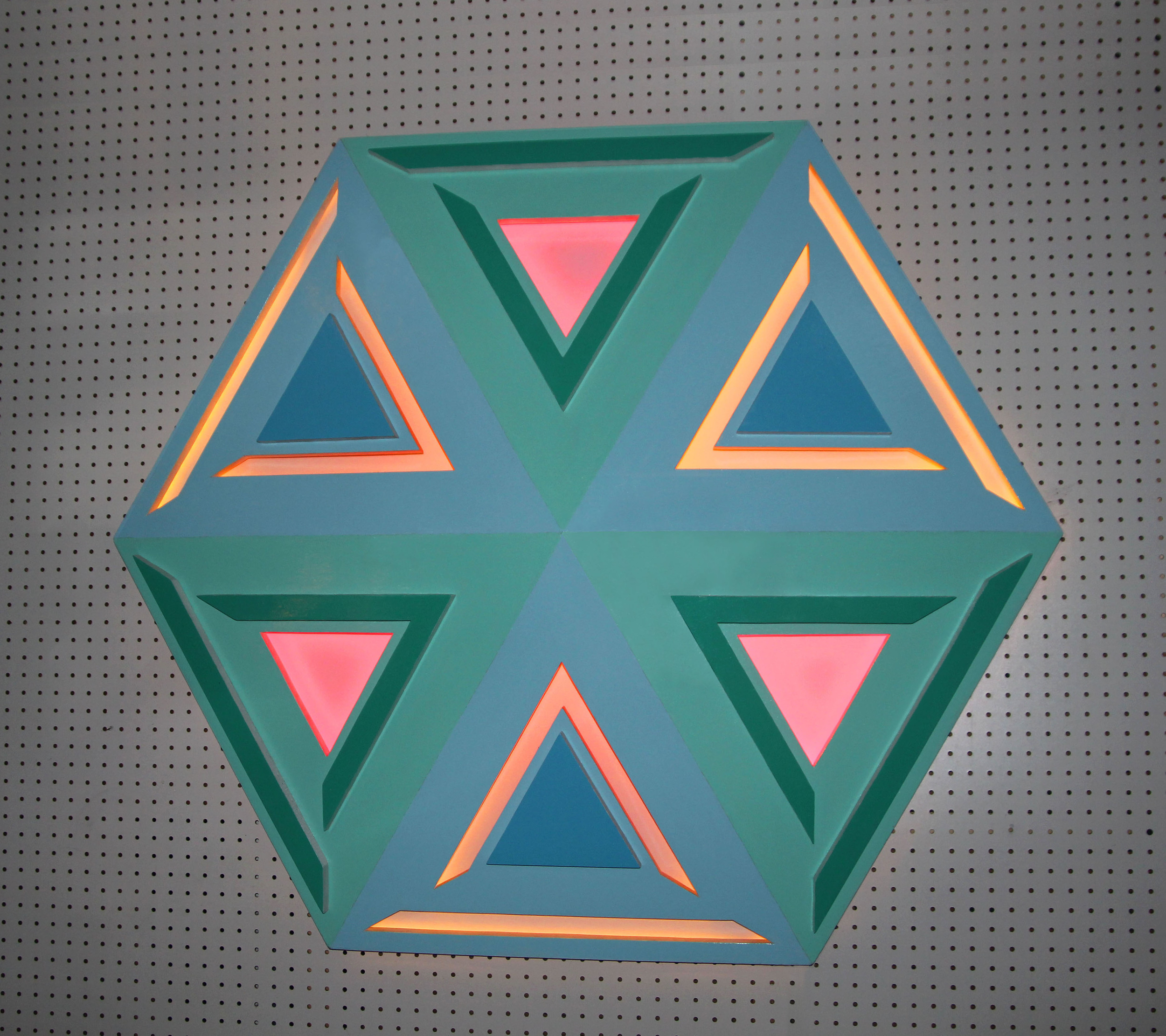 9 - Wood sculpture with reflective colors.jpg
