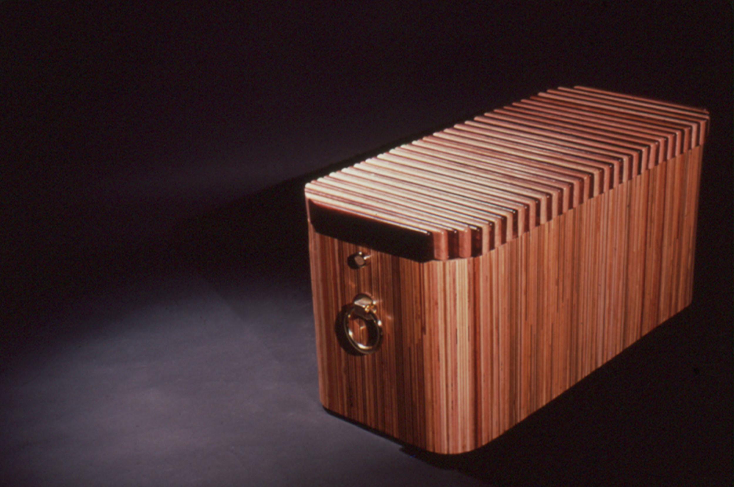 14 - Butcher block cedar lined chest with oak and walnut top.jpg