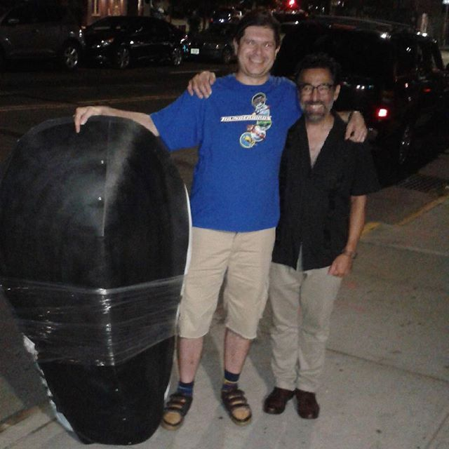 Matey Vakula and I with his mussel costume. Next time!