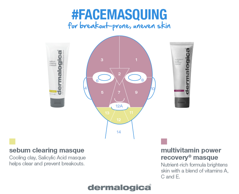 breakouts and pigmentation masque combo    clear, refine, brighten    Acne breakouts and pigmentation? Apply Sebum Clearing Masque to treat breakouts with Salicylic Acid. Multi-Vitamin Power Recovery Masque will help brighten uneven skin tone with vitamins A, C, and E.