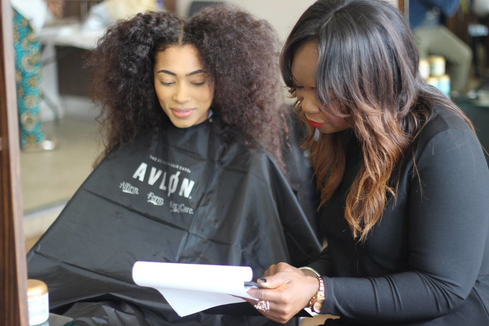 "Cosmetologist - The consultation is the first step, of many, which allows the ""Signature"" Team to identify the appropriate style and the necessary professional products to maintain your beautiful hair."