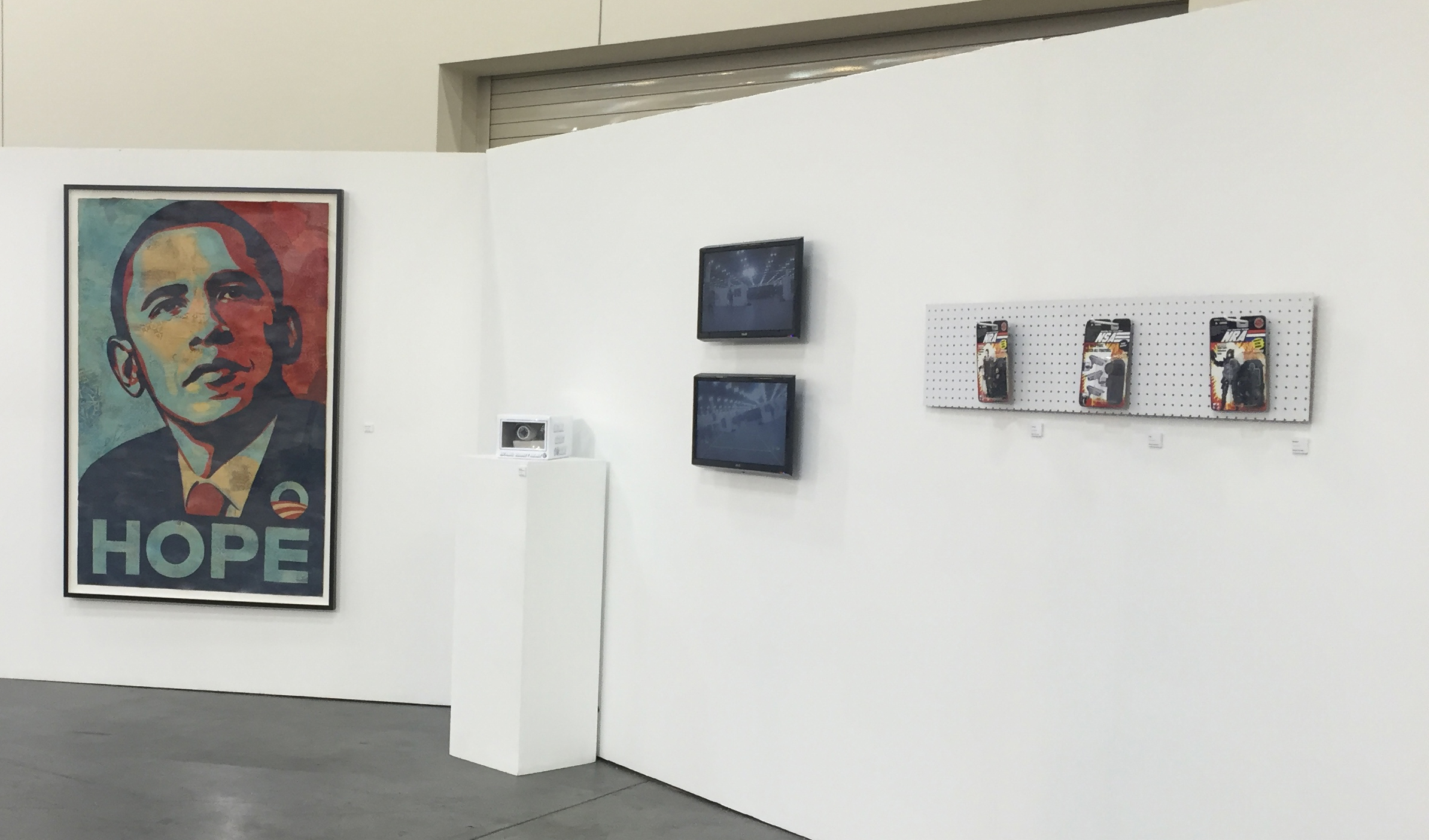 Teacher, Student, and NSA on view in the Art of Politics group show in Pasadena, CA, 2016