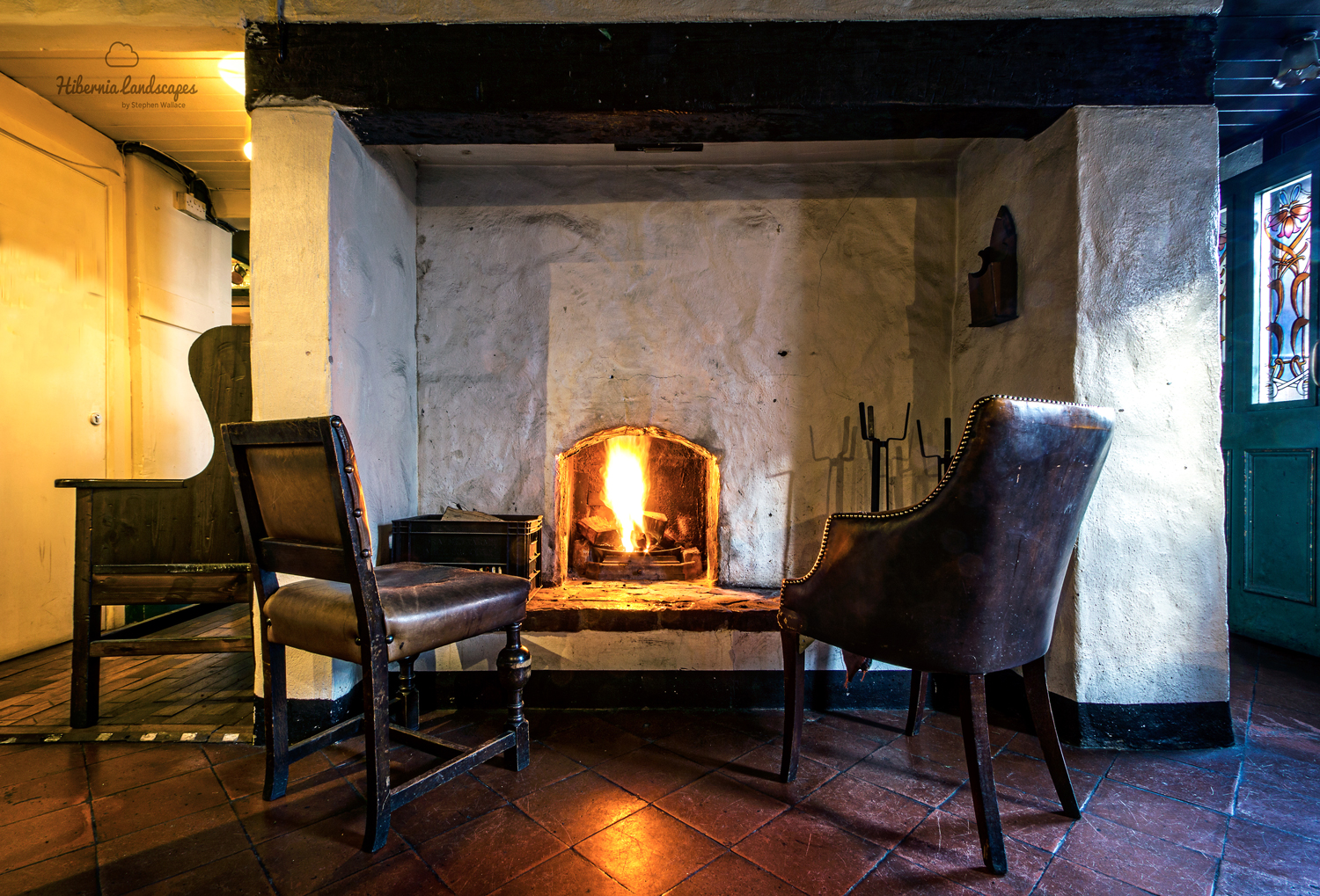 The snug bar, which was part of the original living quarters in the pub.  This fireplace has remained unchanged since the 1750s.