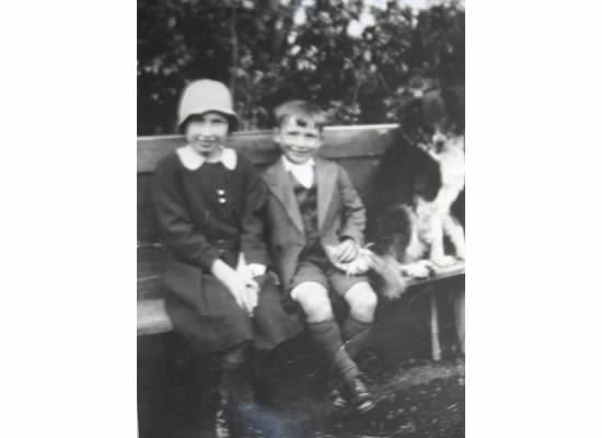 James Armstrong and Hazel Heenan as children. Both would go on to be owners of the pub.