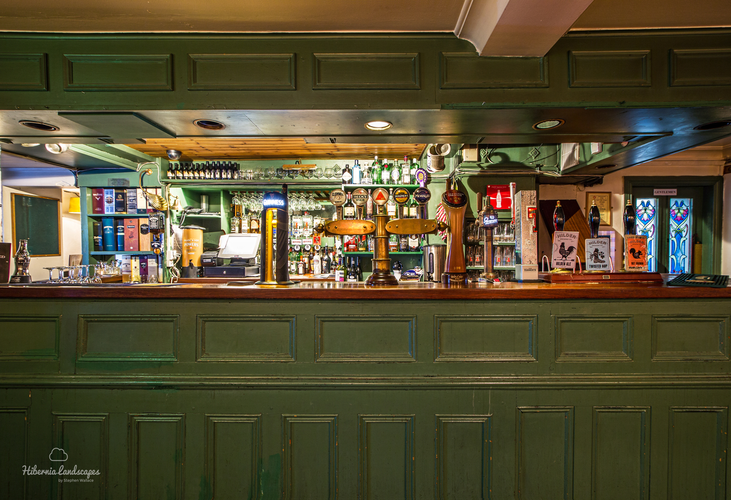 The bar itself.