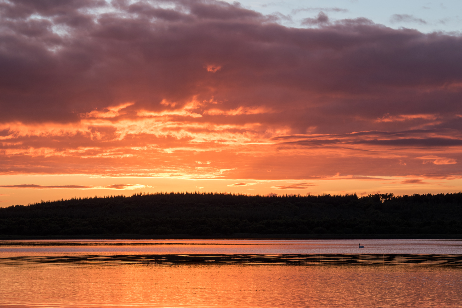Sunset over Lough Erne and Kesh Forest