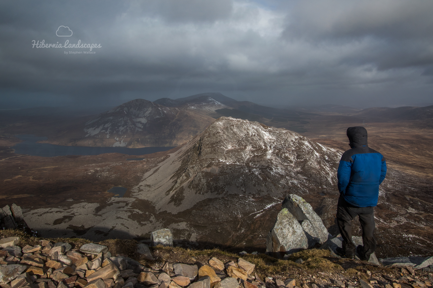 Surveying the Derryveagh mountains