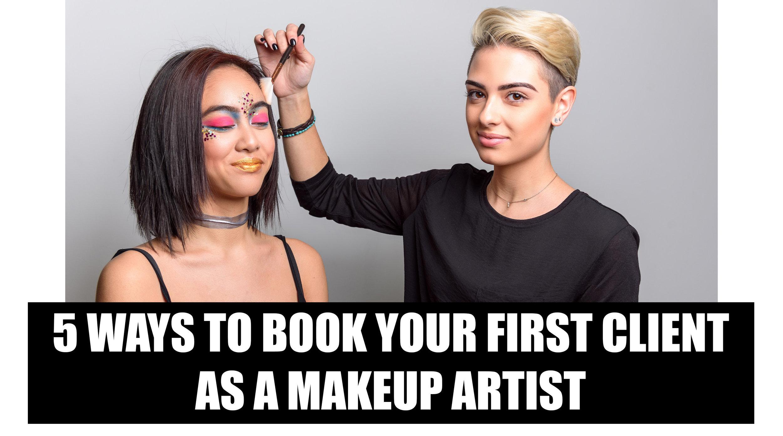 First Client As A Makeup Artist