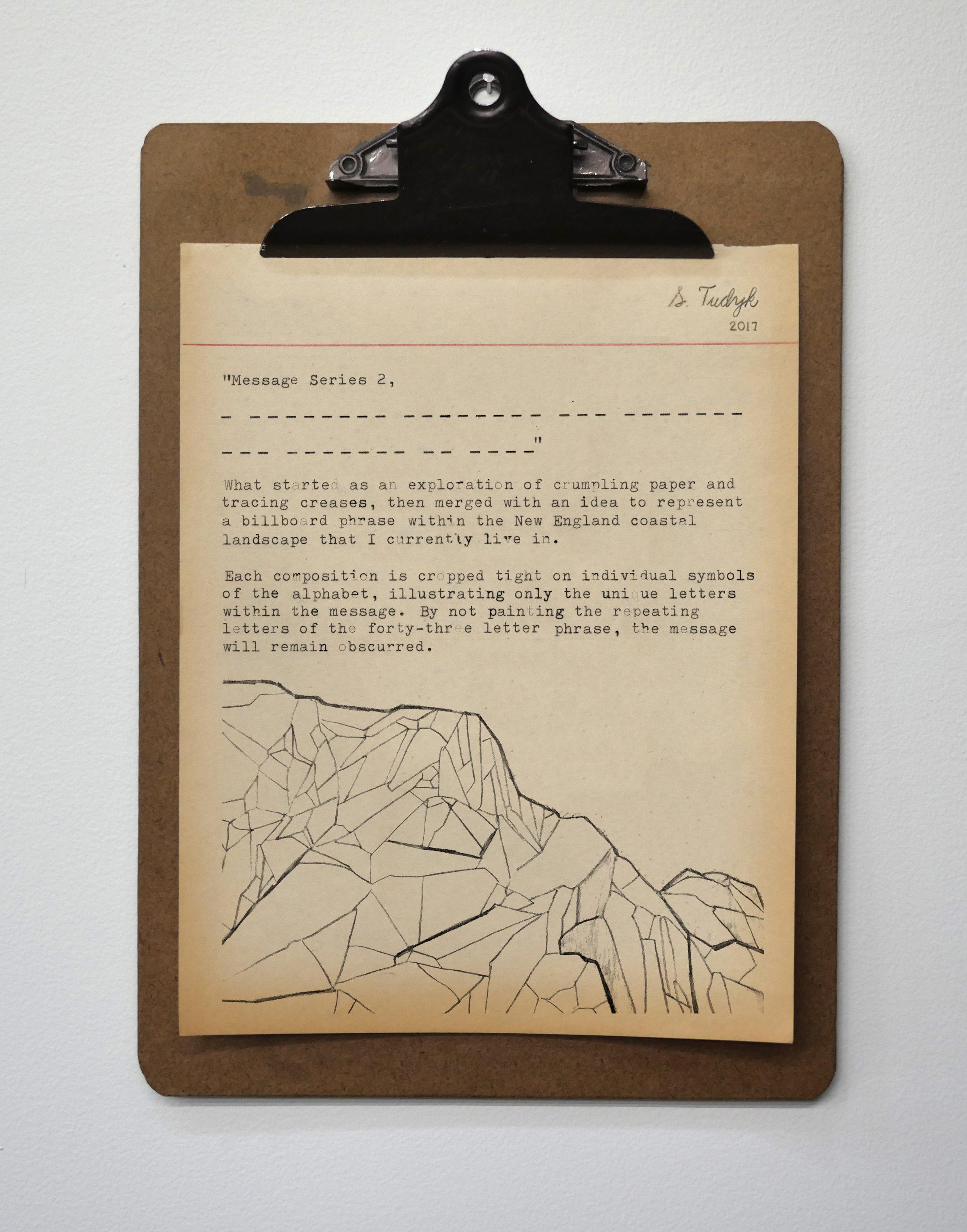 Message Series 2, Artist Statement