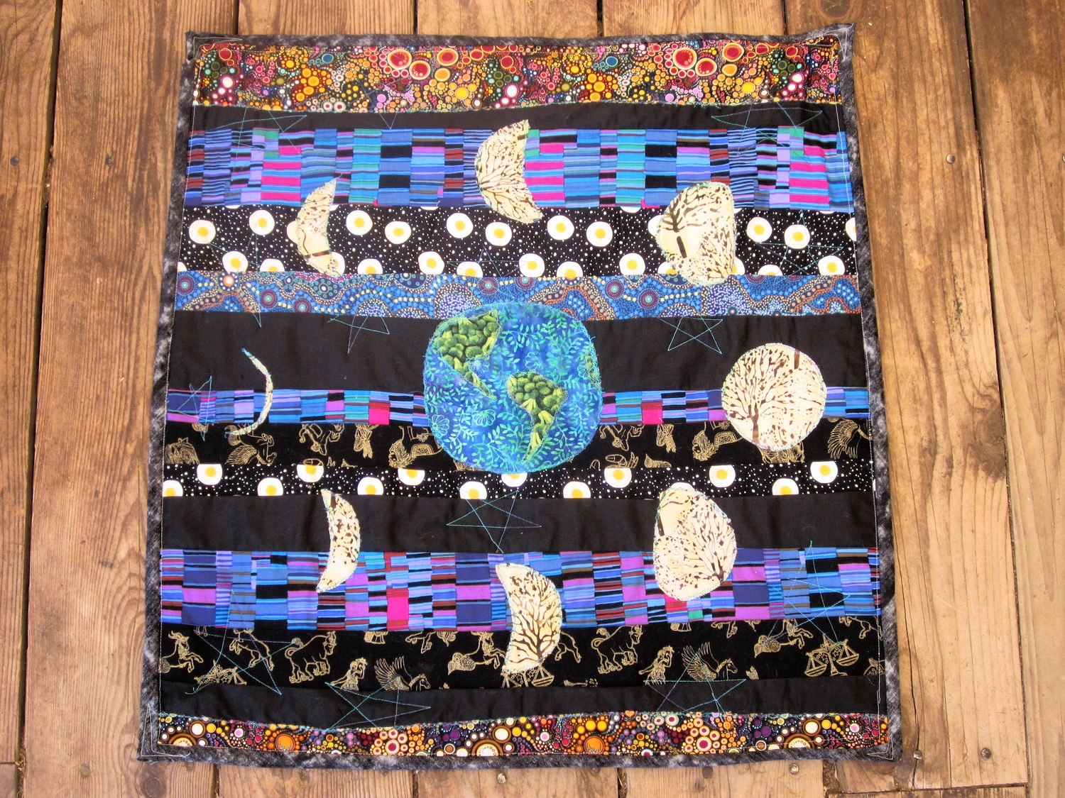 moon cycles quilt i made for jacob a couple years ago