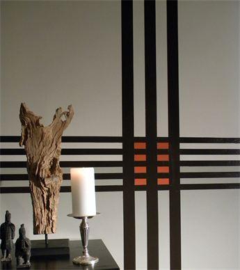 Boston Interior Design / Color Consultation / Paint & Wallpaper Hanging Service / Stripe Mural