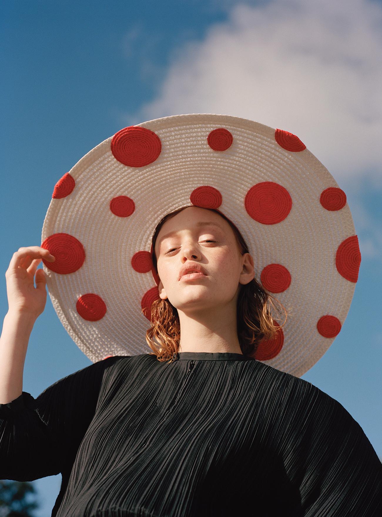 Jill Sander  Dress   Eric Javits  Hat